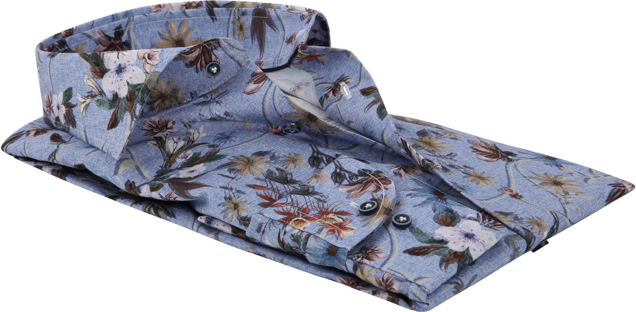Profuomo Shirt Flowers Blue photo 3