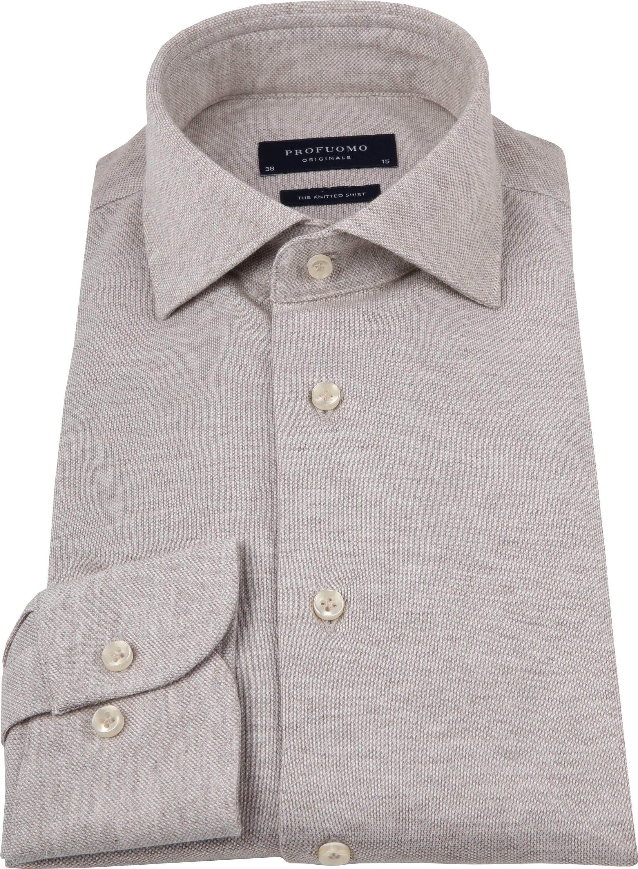 Profuomo Shirt Knitted Beige foto 2