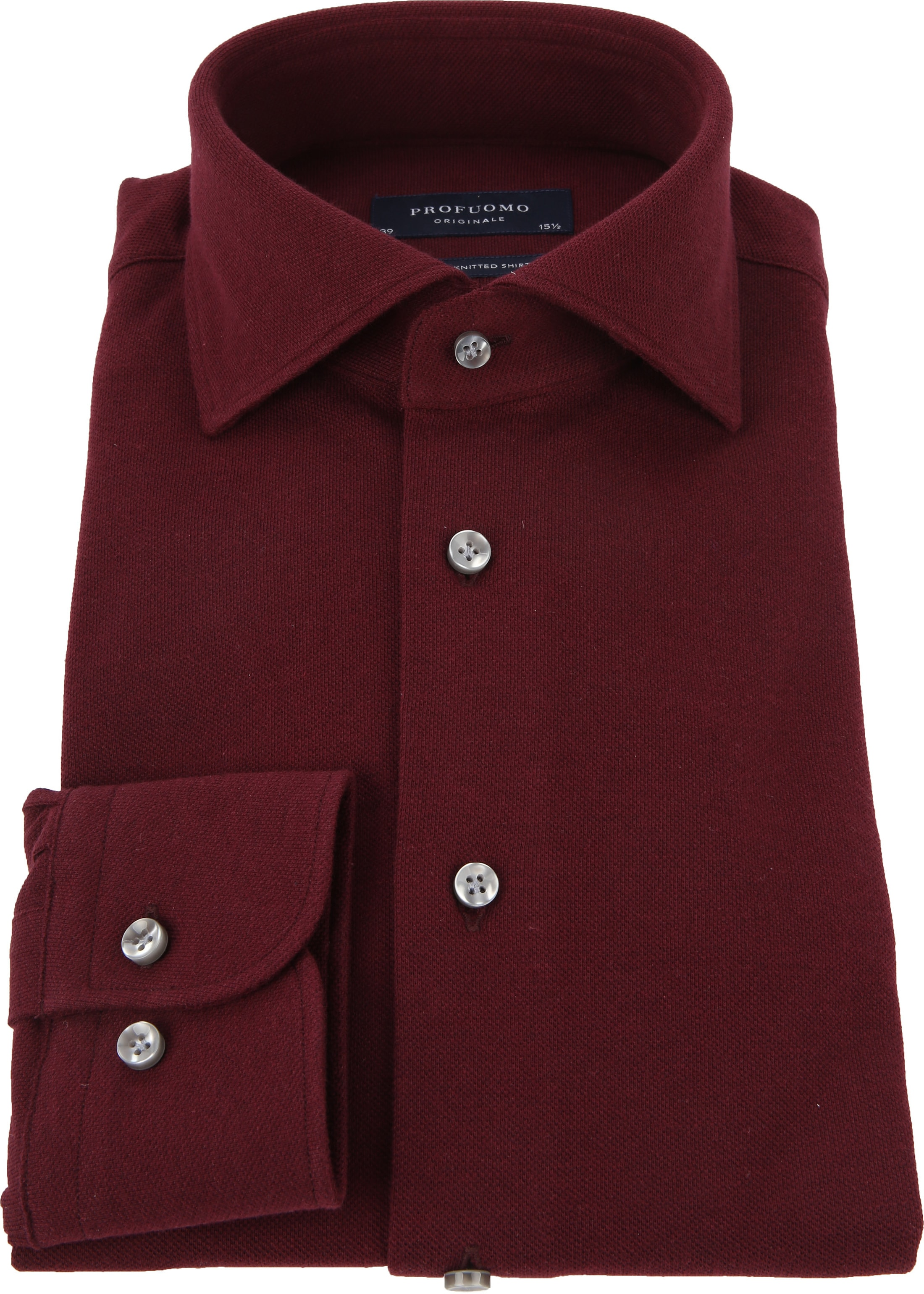 Profuomo Shirt Knitted Bordeaux foto 2