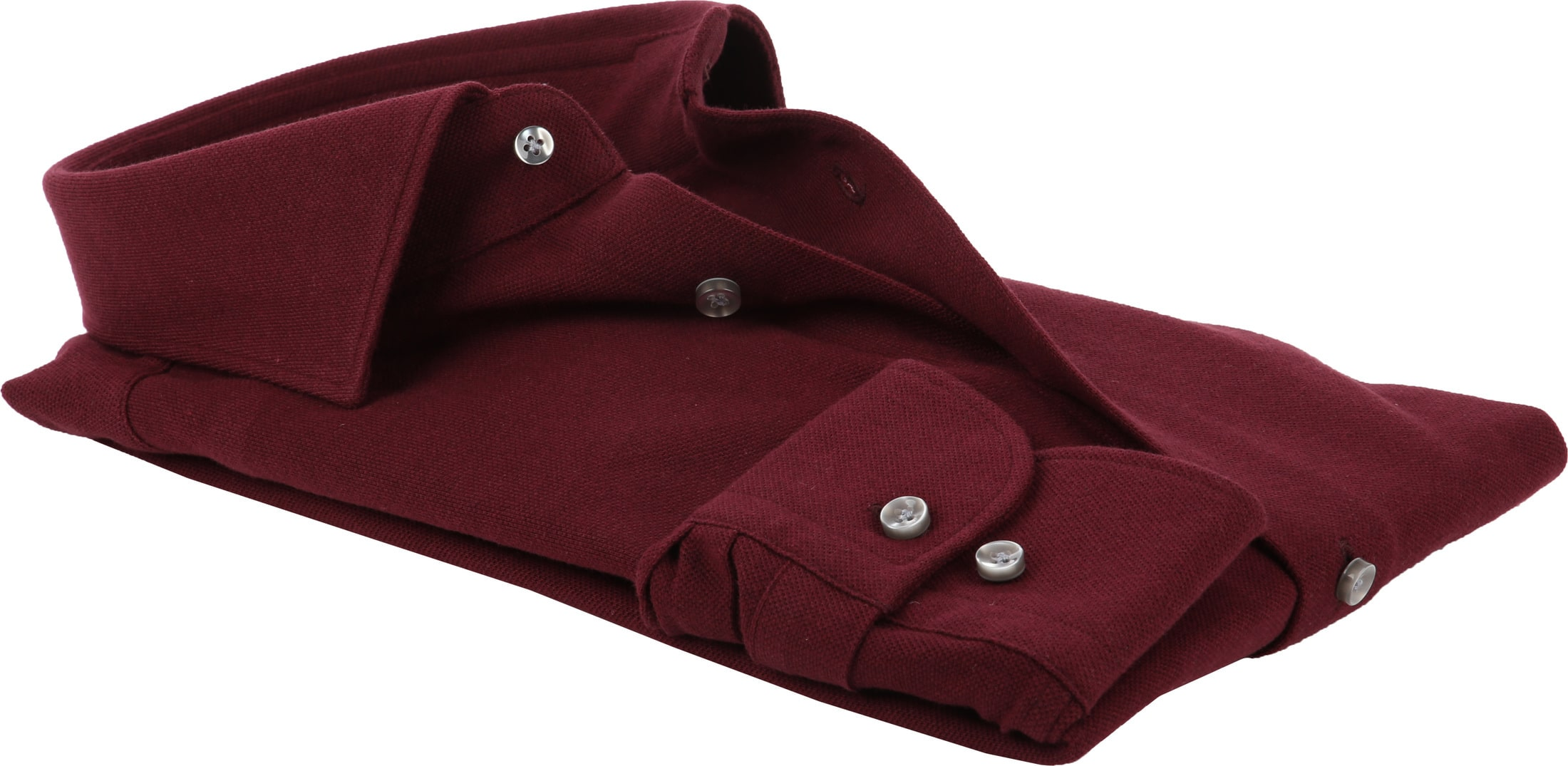 Profuomo Shirt Knitted Bordeaux foto 3