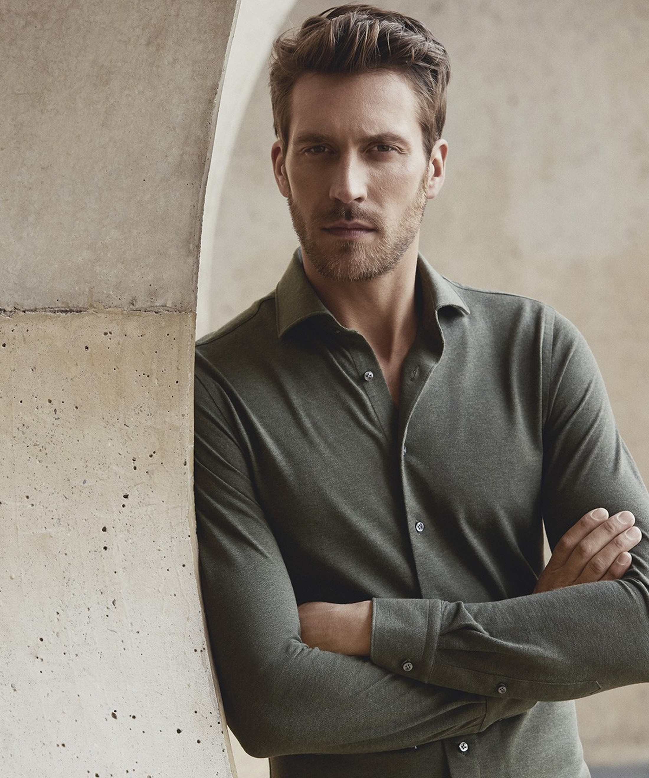 Profuomo Shirt Knitted Green foto 4