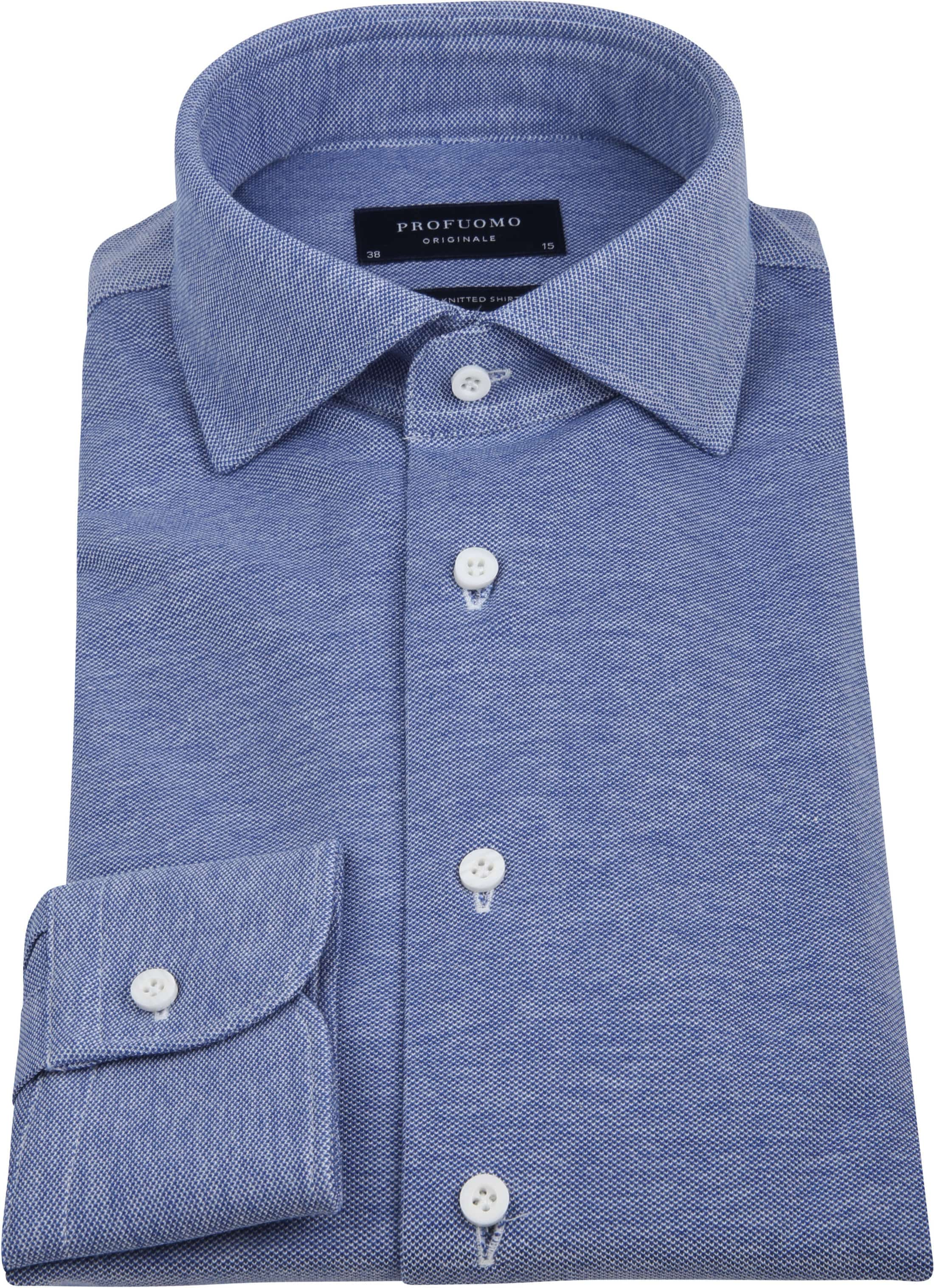Profuomo Shirt Knitted Mid Blue foto 2