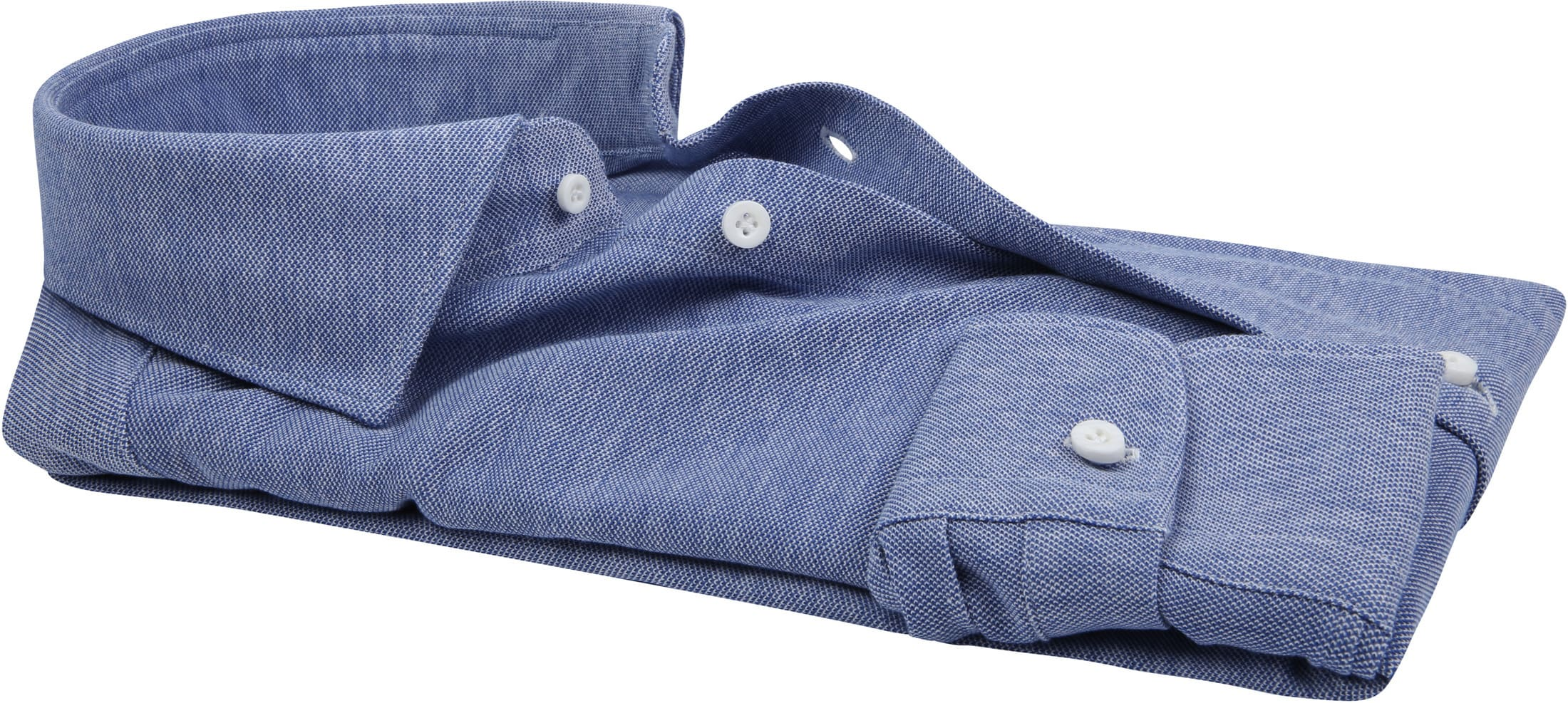 Profuomo Shirt Knitted Mid Blue foto 3