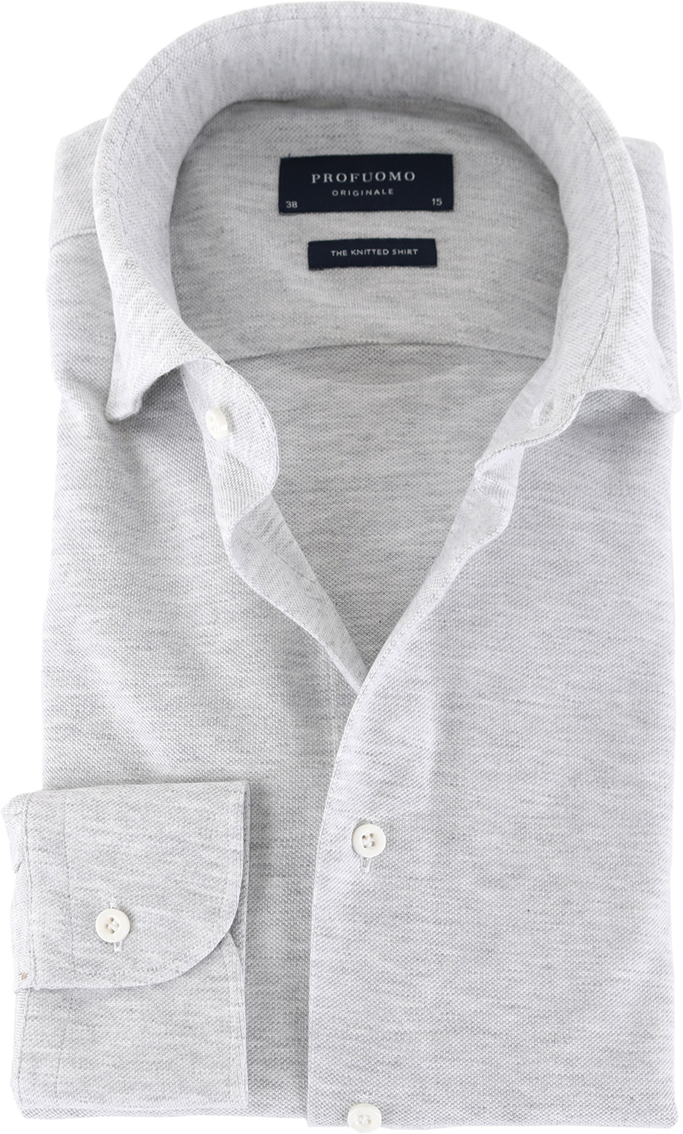 Profuomo Shirt Knitted Slim Fit Grey foto 0
