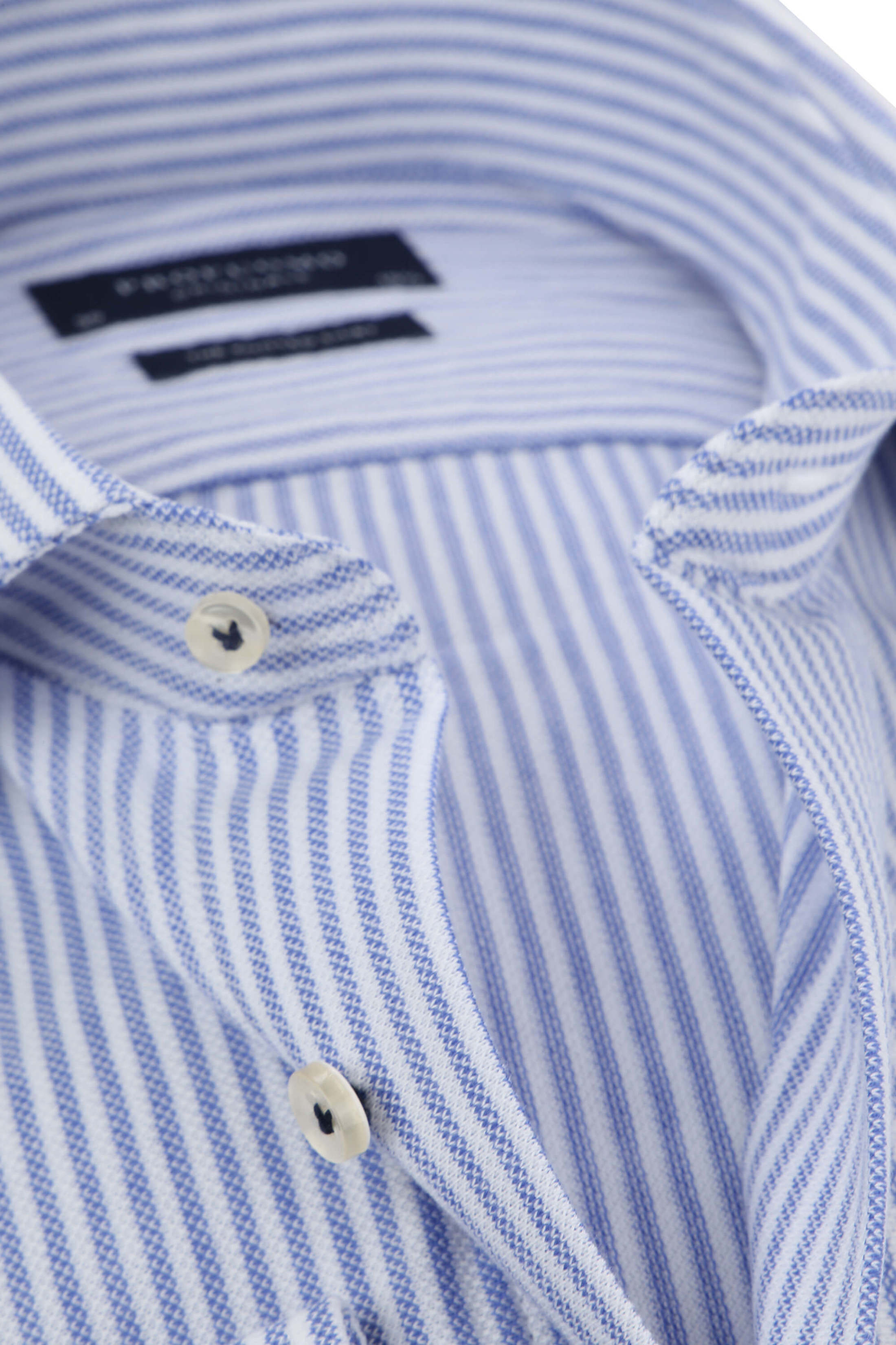 Profuomo Shirt Knitted Stripes Blue foto 1