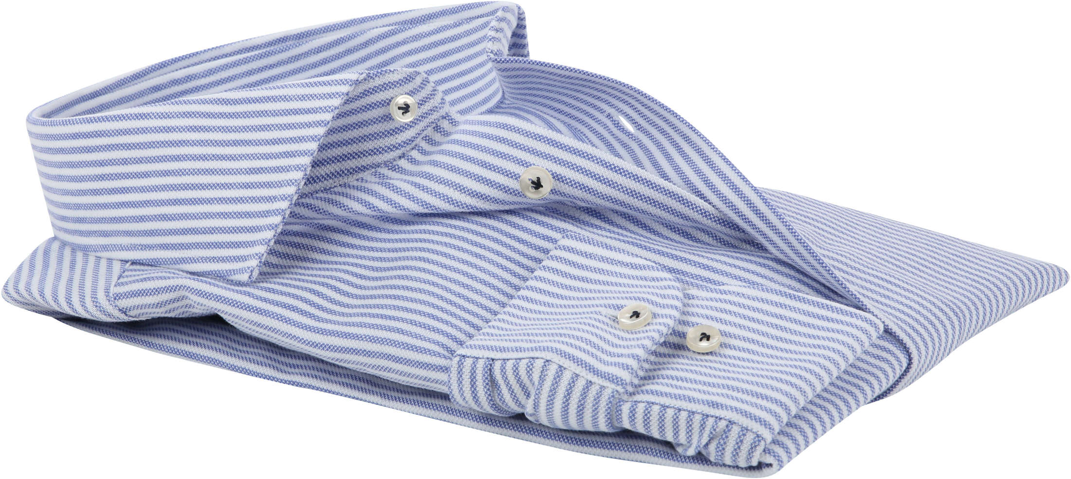 Profuomo Shirt Knitted Stripes Blue foto 3