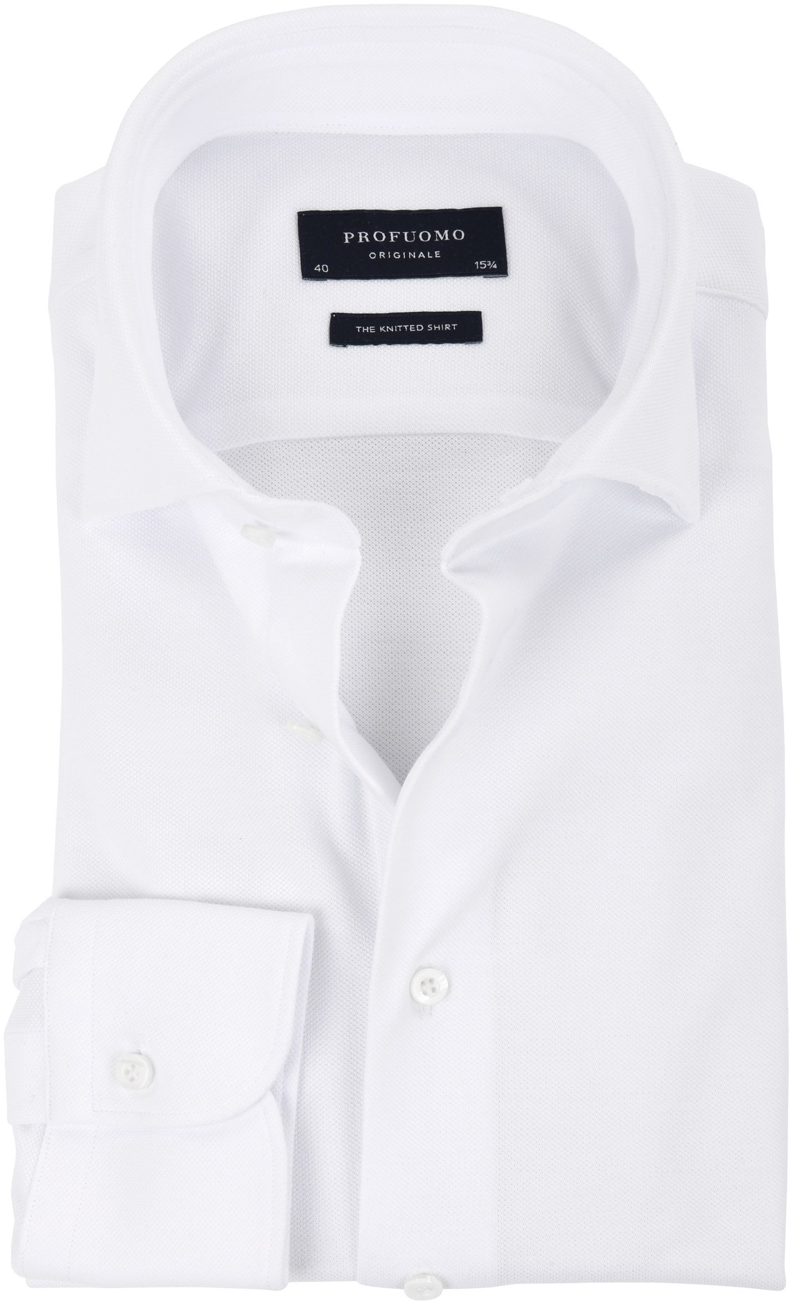 Profuomo Shirt Knitted White WS