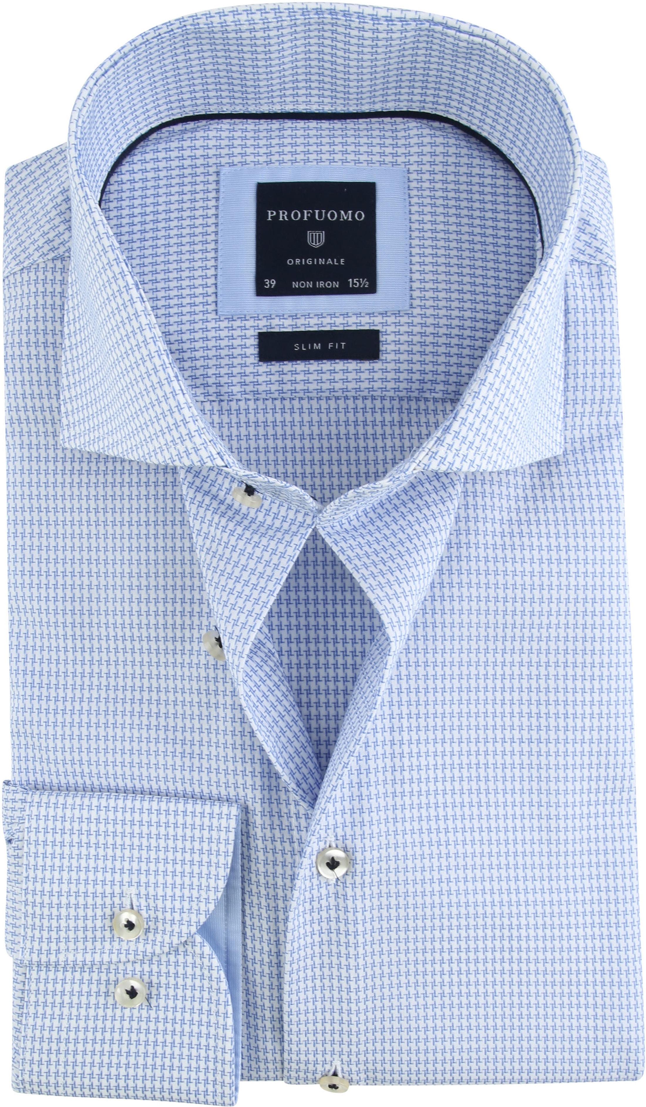 Profuomo Shirt Pied De Poule Blue photo 0