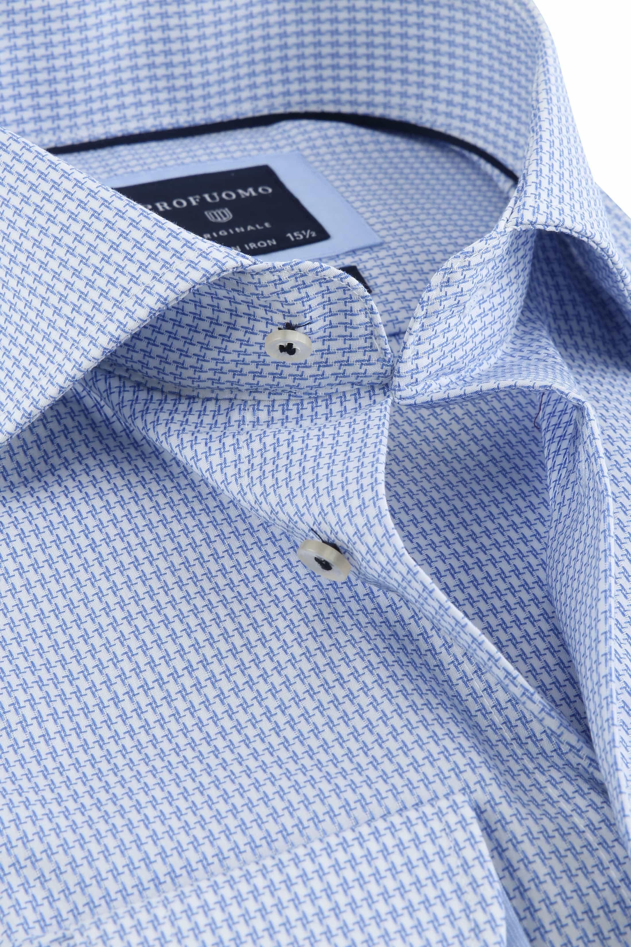 Profuomo Shirt Pied De Poule Blue photo 1