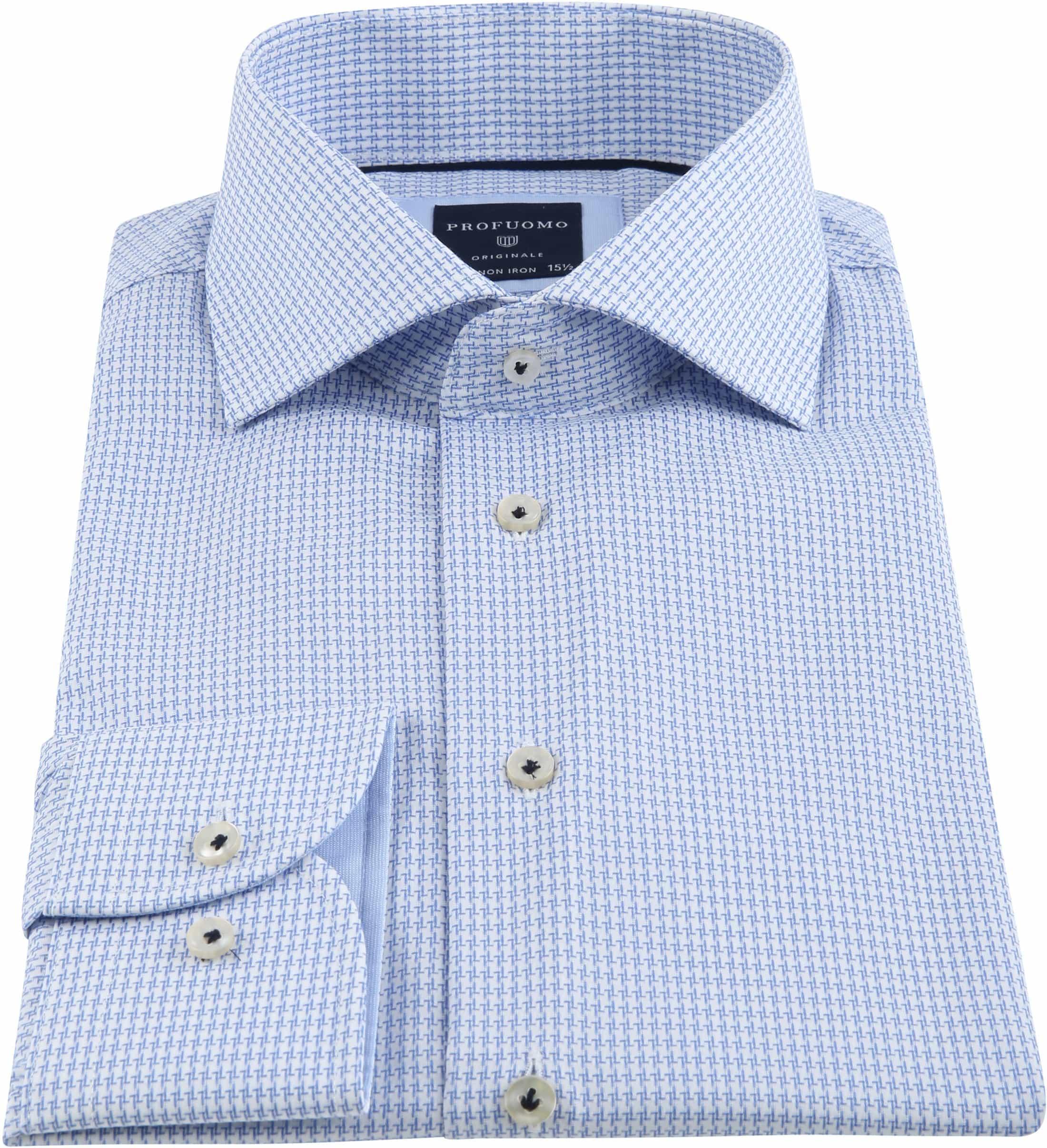 Profuomo Shirt Pied De Poule Blue photo 2