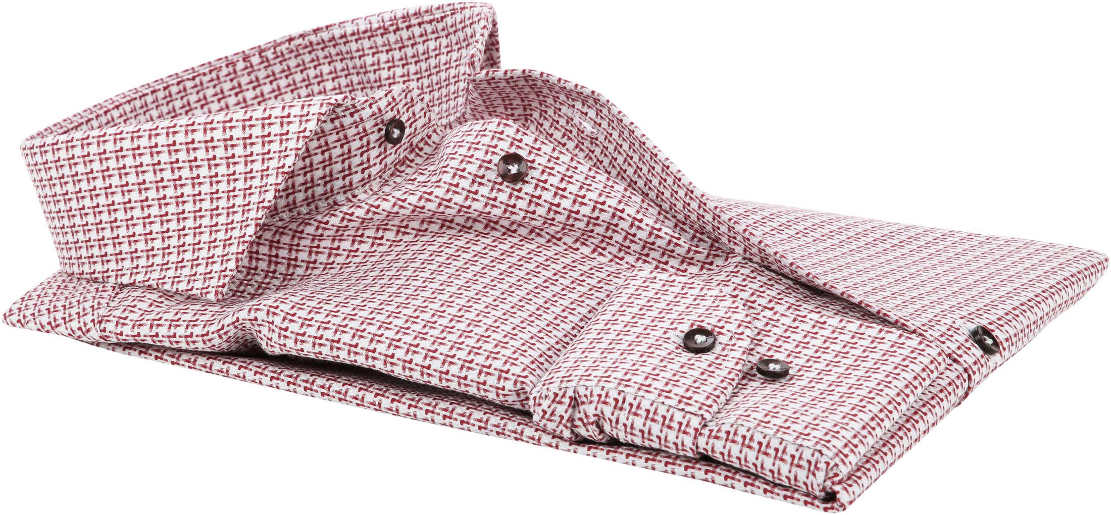 Profuomo Shirt Red Dessin foto 3