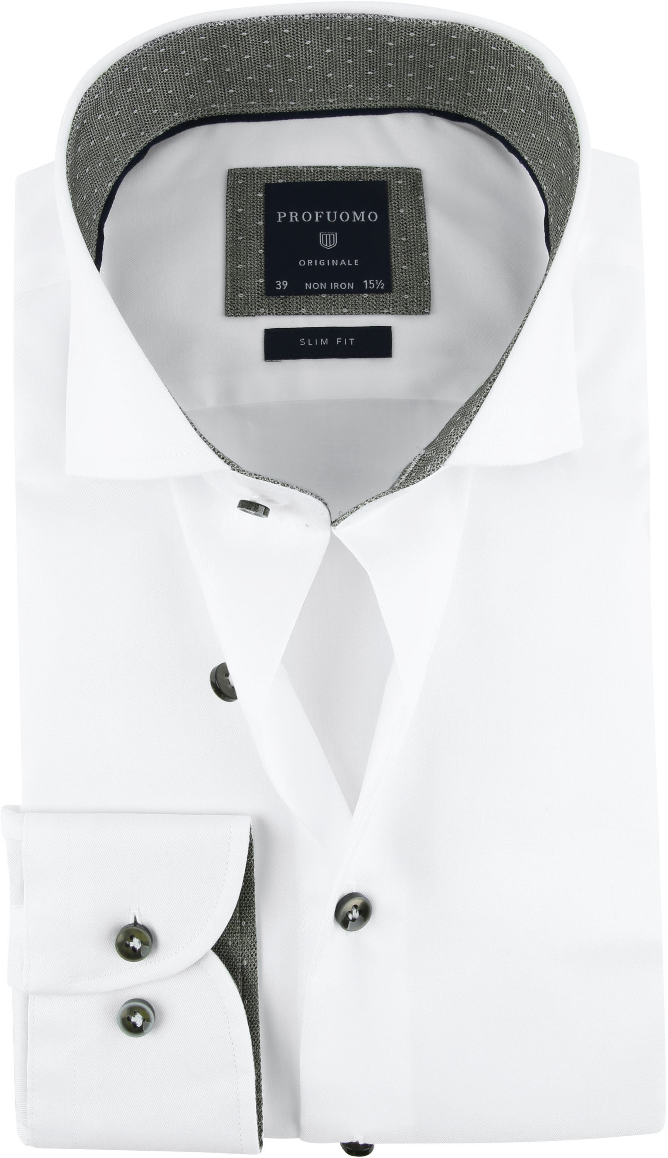 Profuomo Shirt SF Wit Cutaway photo 0