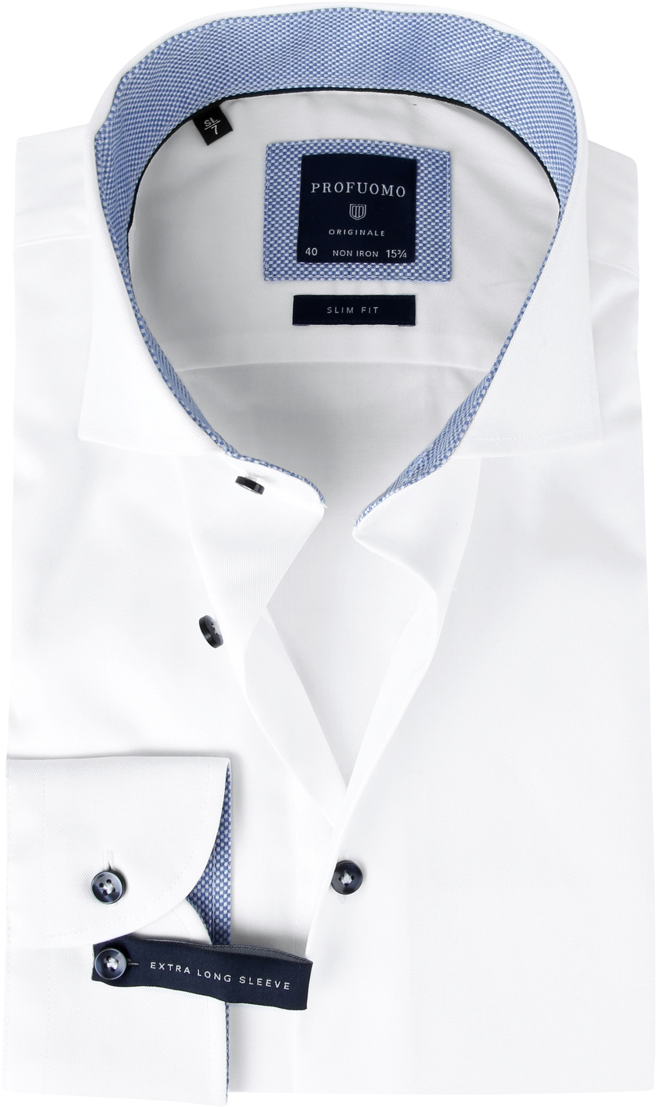 Profuomo Shirt SL7 White Fine Twill CAW photo 0