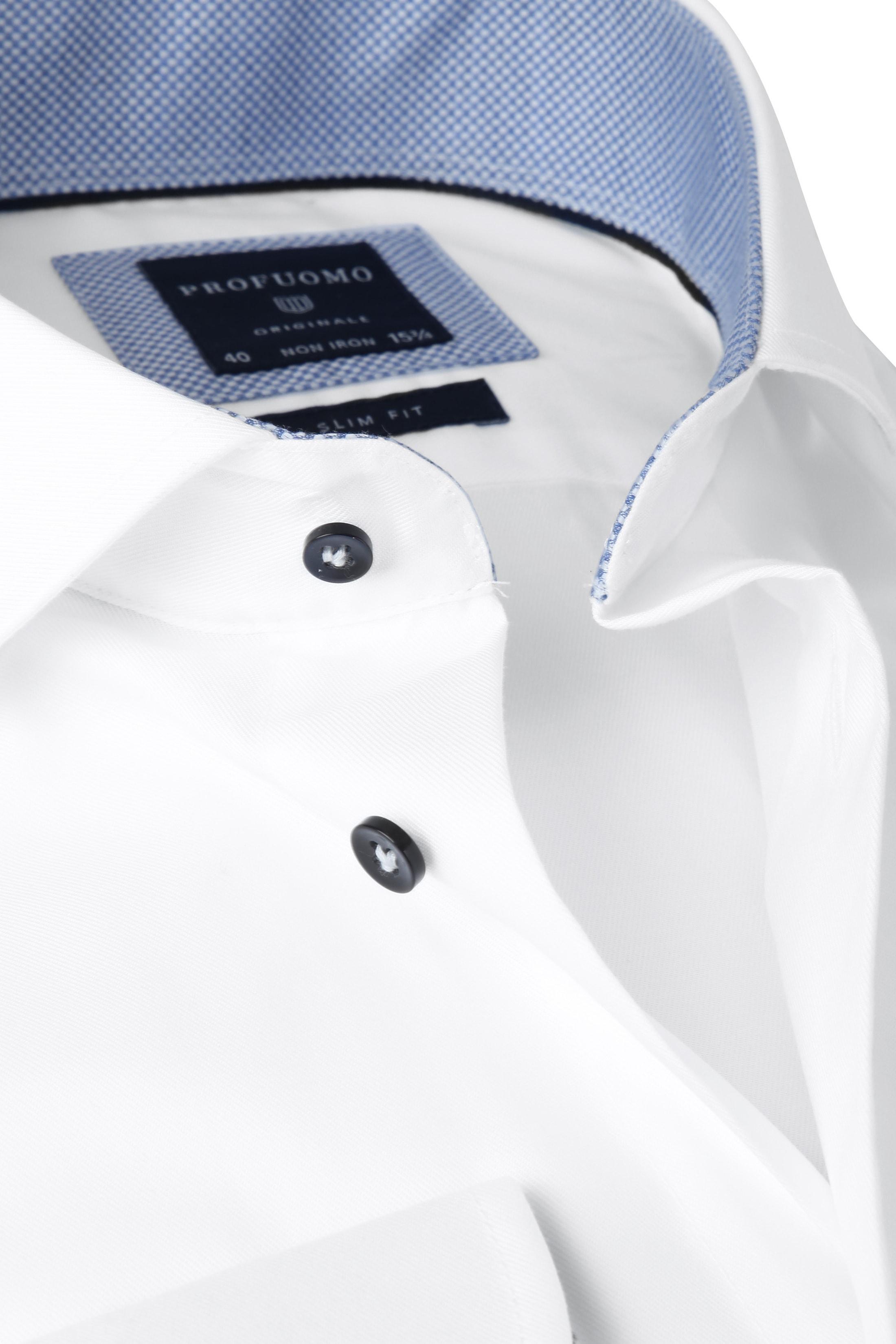 Profuomo Shirt SL7 White Fine Twill CAW photo 1
