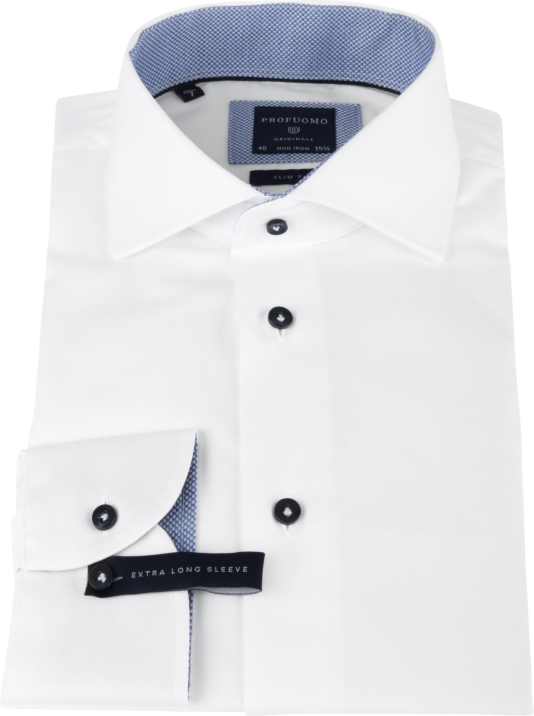 Profuomo Shirt SL7 White Fine Twill CAW photo 2