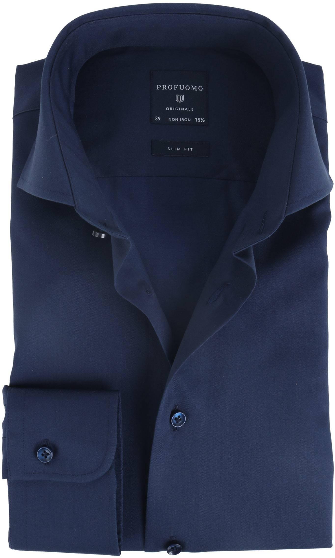Profuomo Shirt Slim Fit Navy foto 0