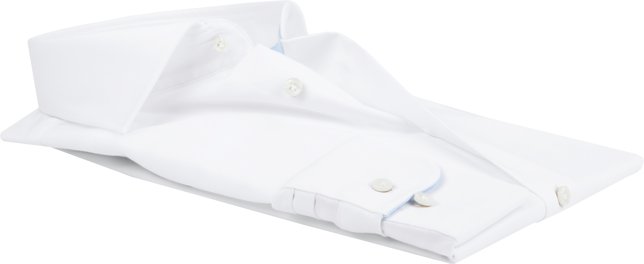 Profuomo Shirt White Blue Accent foto 3