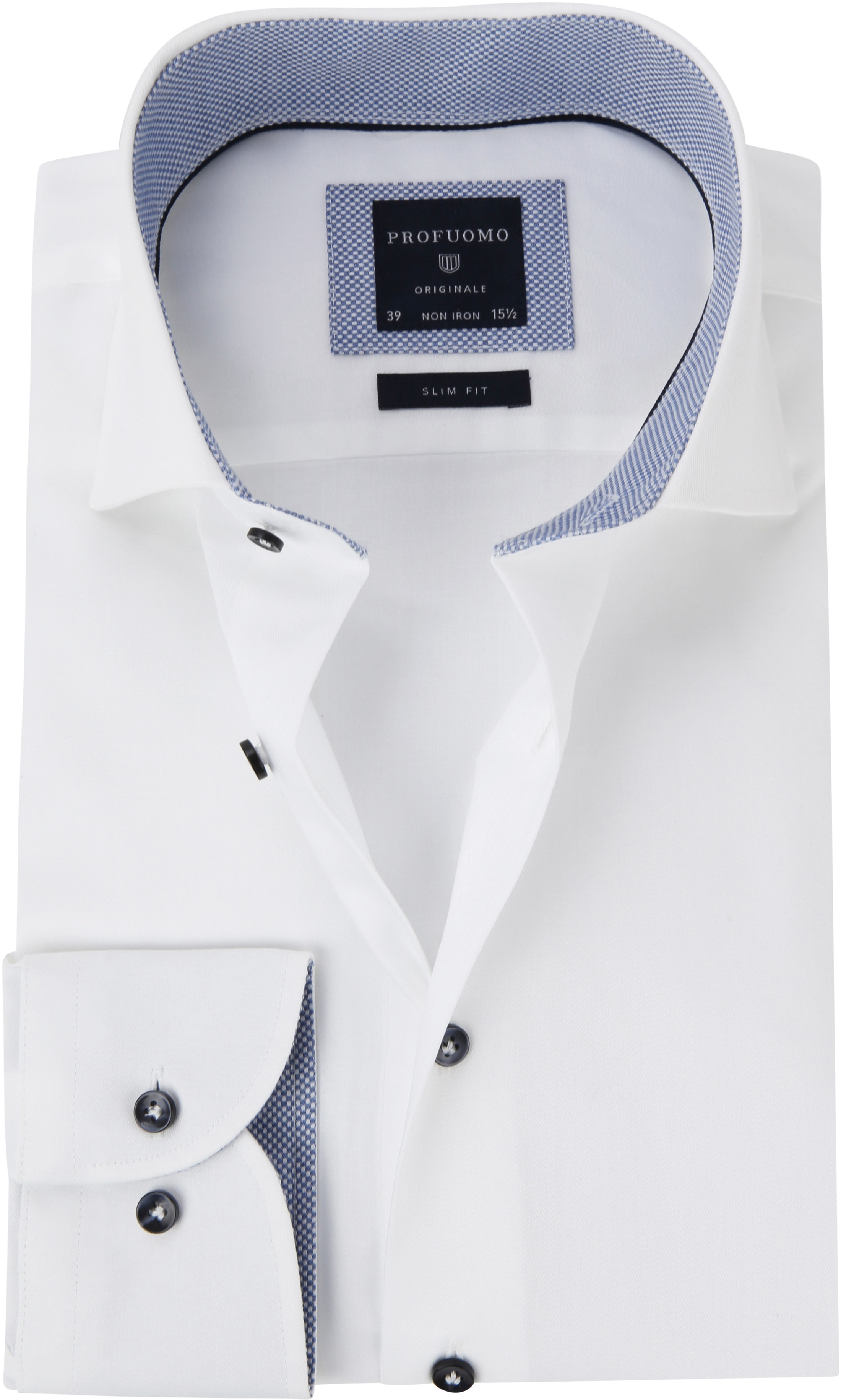 Profuomo Shirt White Fine Twill CAW photo 0