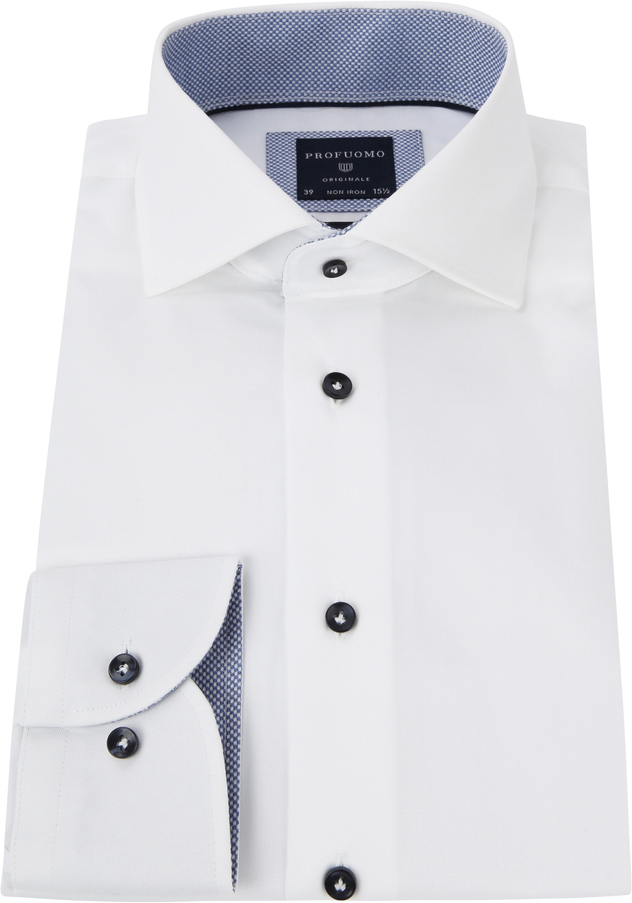 Profuomo Shirt White Fine Twill CAW photo 2