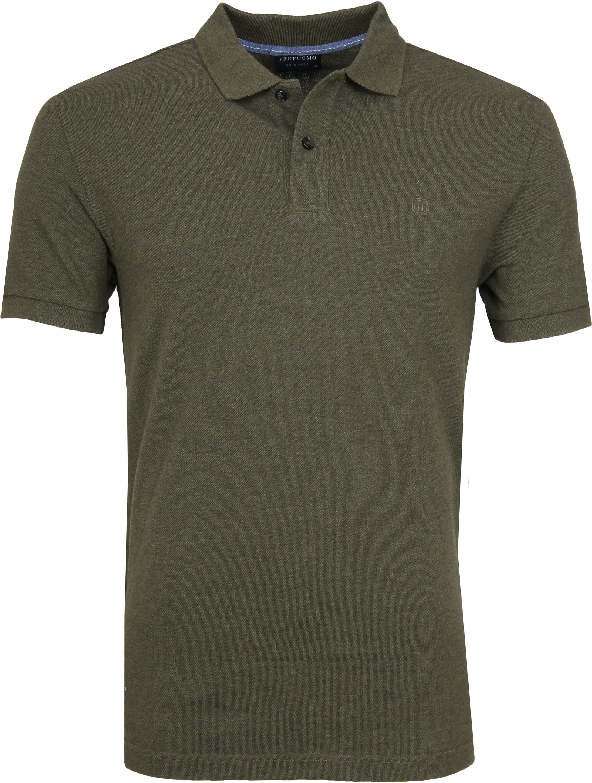 Profuomo Short Sleeve Poloshirt Army foto 0