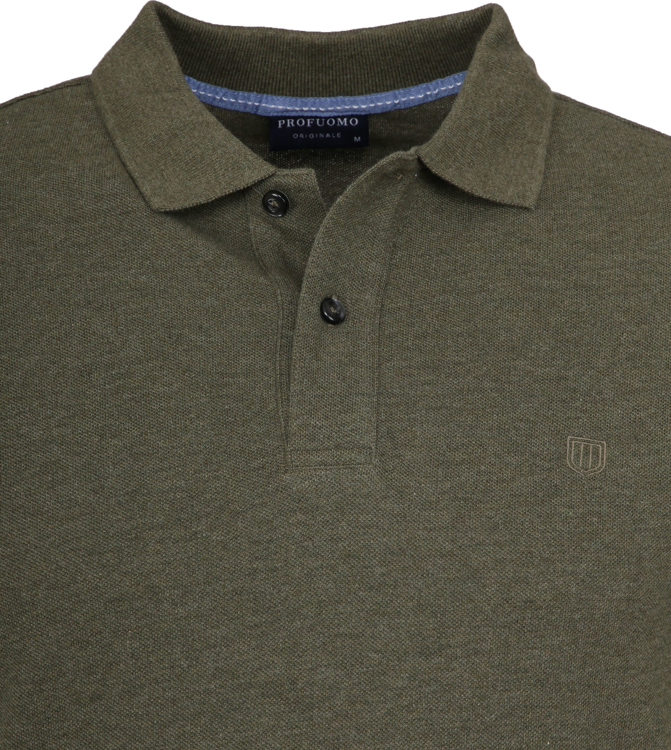 Profuomo Short Sleeve Poloshirt Army foto 1