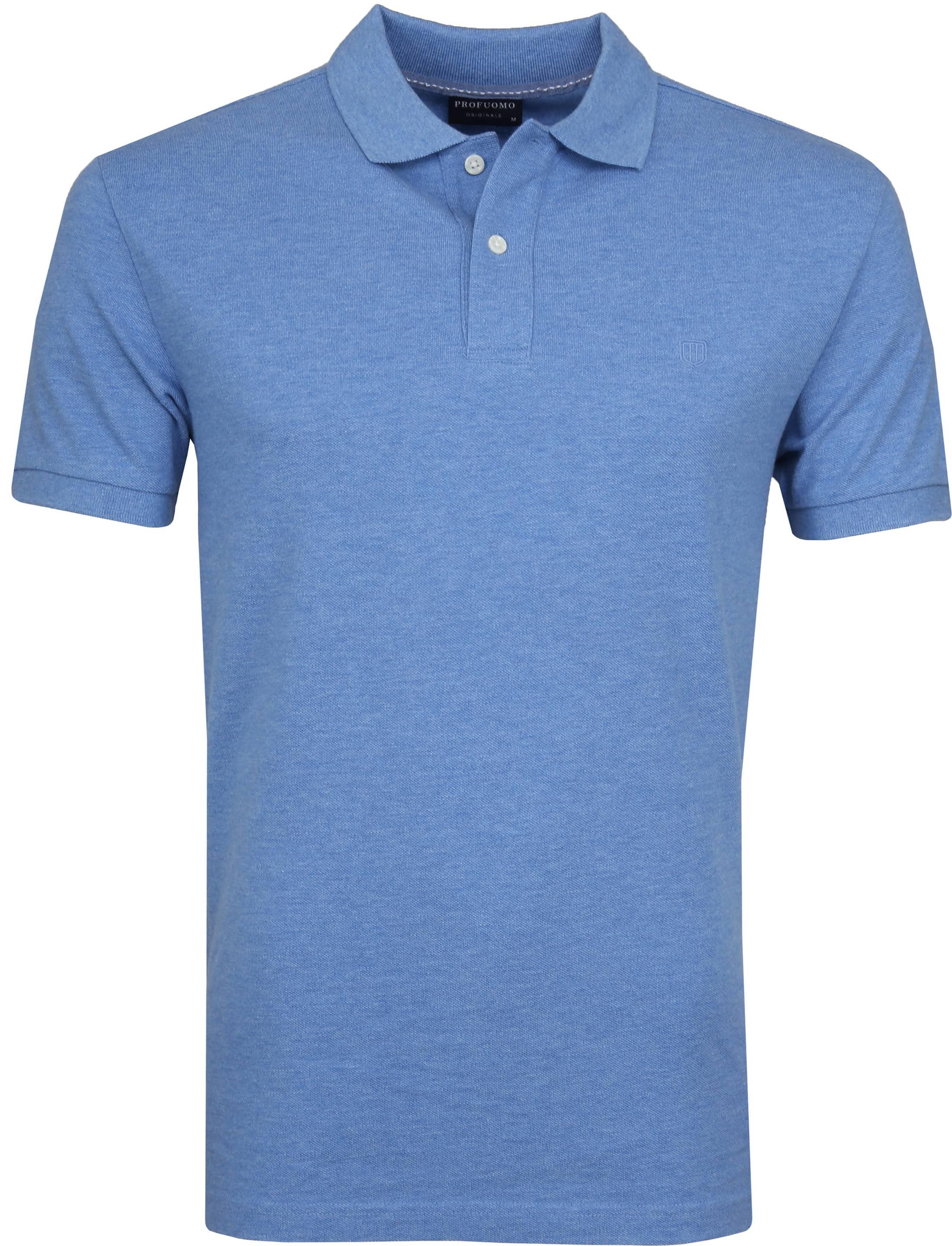 Profuomo Short Sleeve Poloshirt Blau foto 0