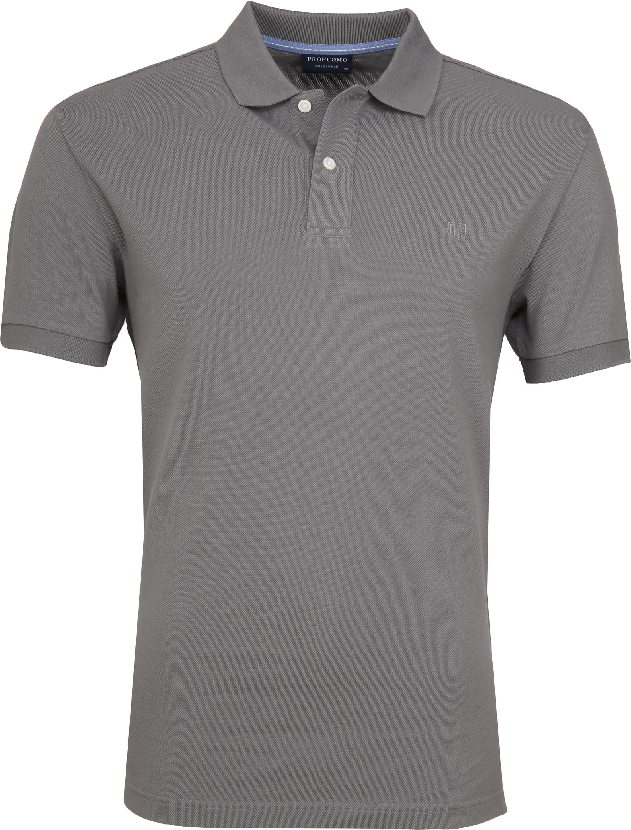 Profuomo Short Sleeve Poloshirt Grau foto 0