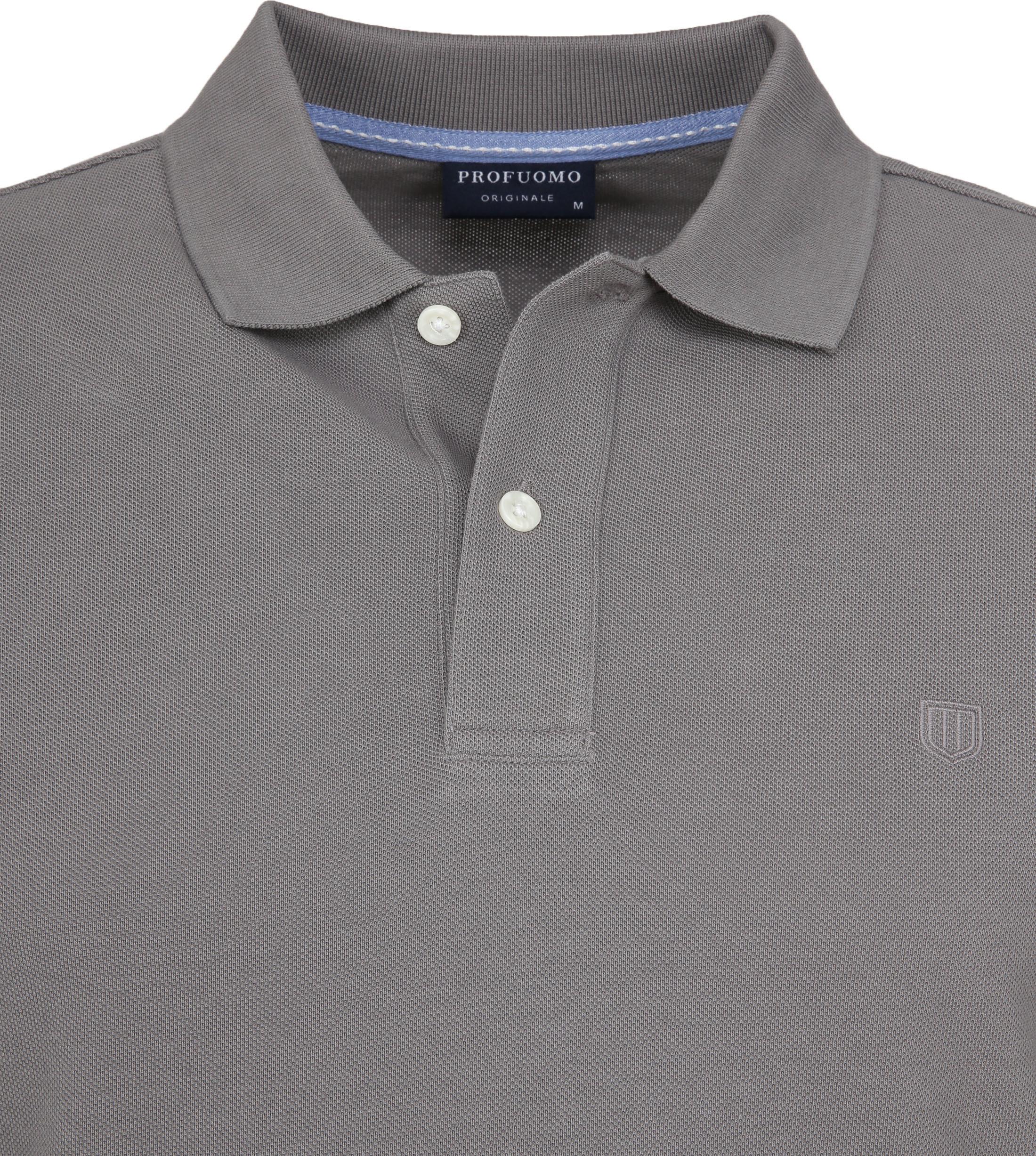 Profuomo Short Sleeve Poloshirt Grau foto 1