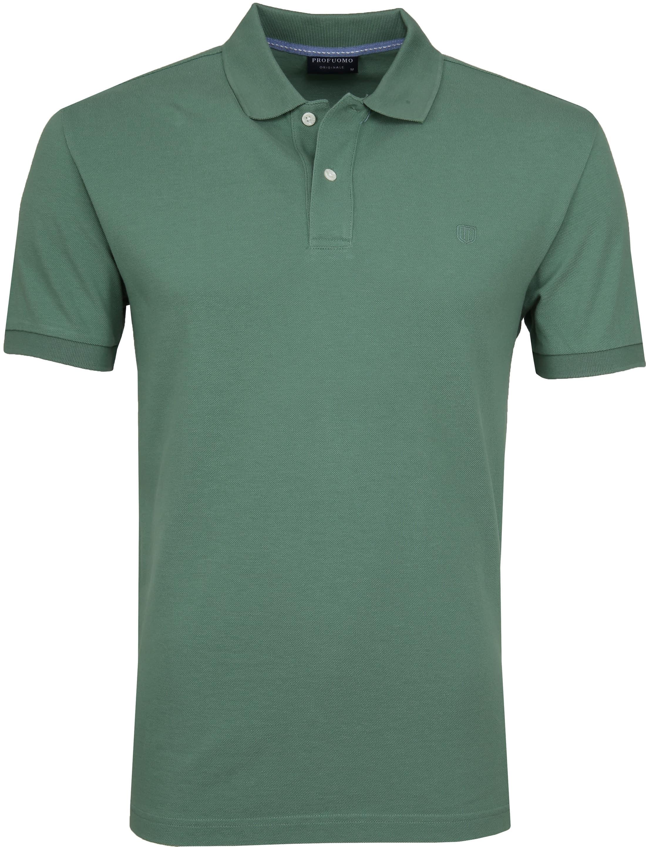 Profuomo Short Sleeve Poloshirt Grün foto 0
