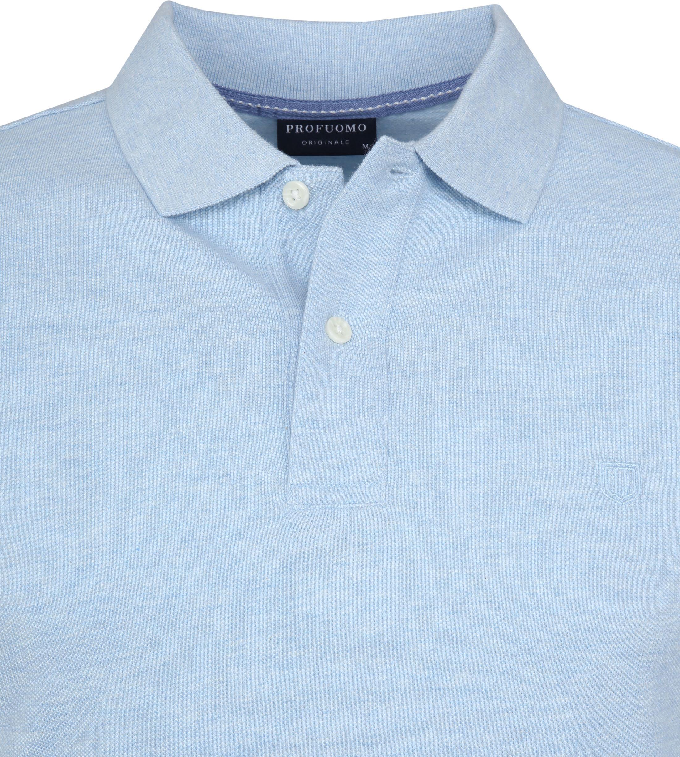 Profuomo Short Sleeve Poloshirt Hellblau foto 1