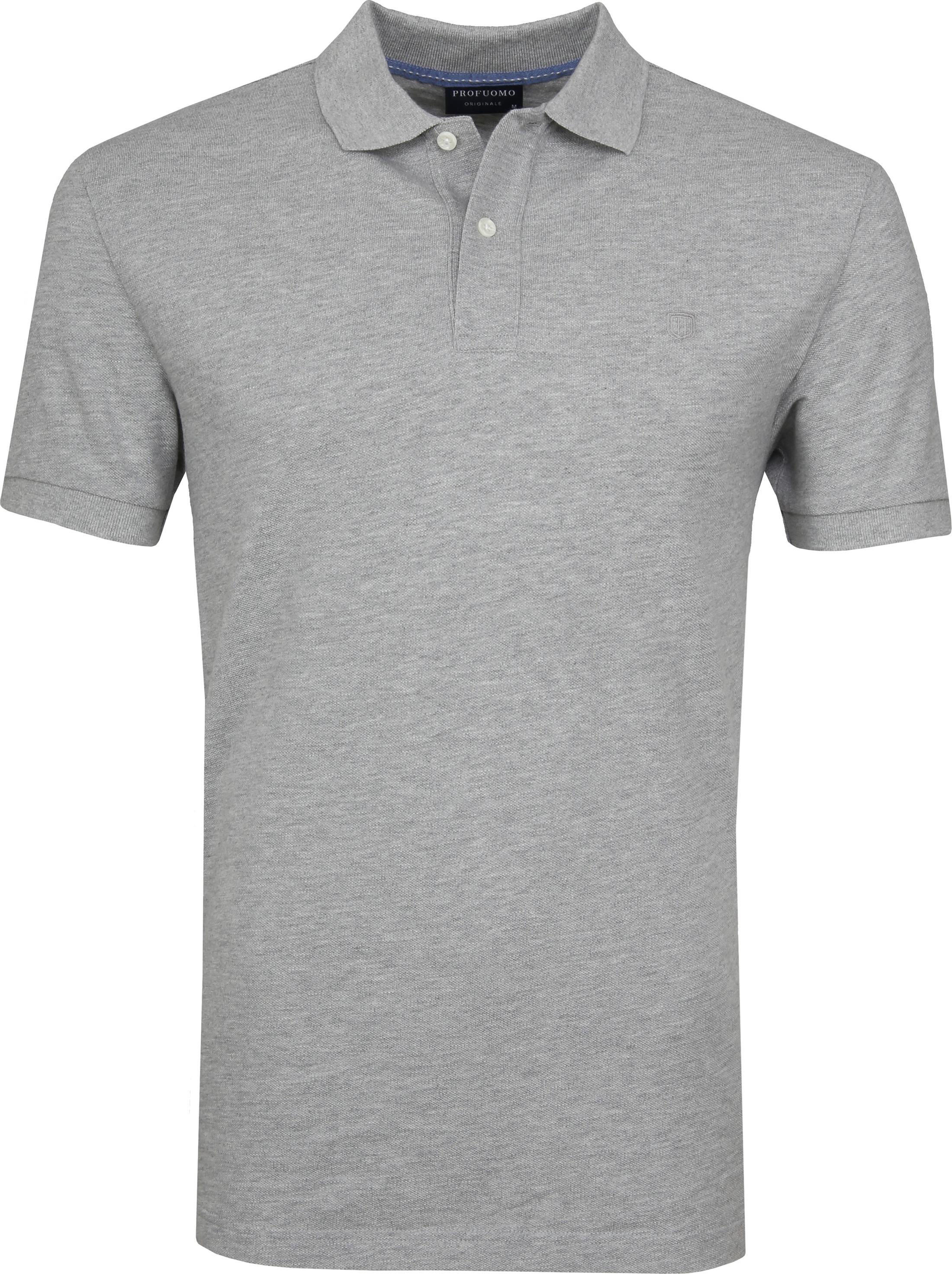 Profuomo Short Sleeve Poloshirt Hellgrau foto 0