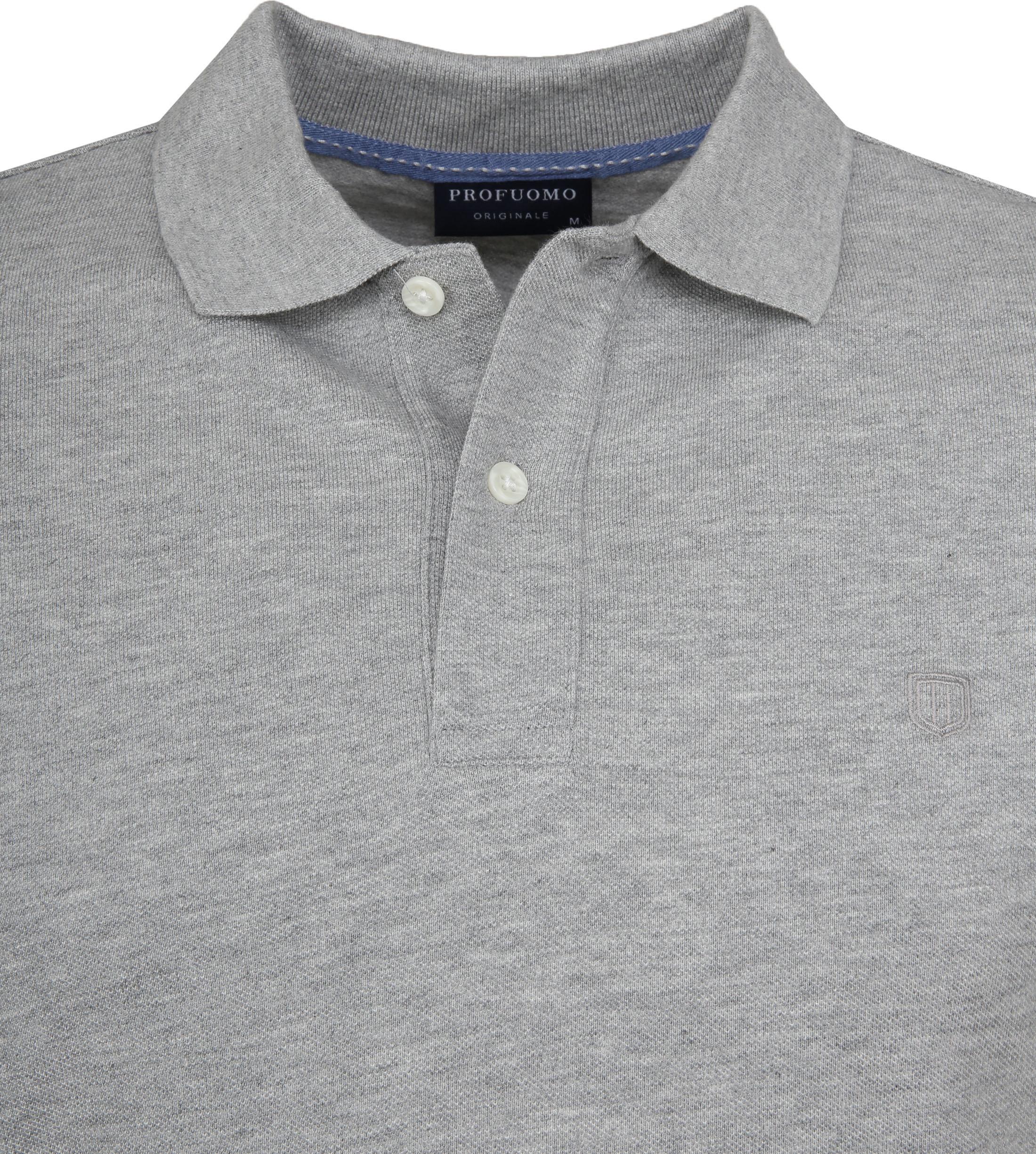 Profuomo Short Sleeve Poloshirt Hellgrau foto 1