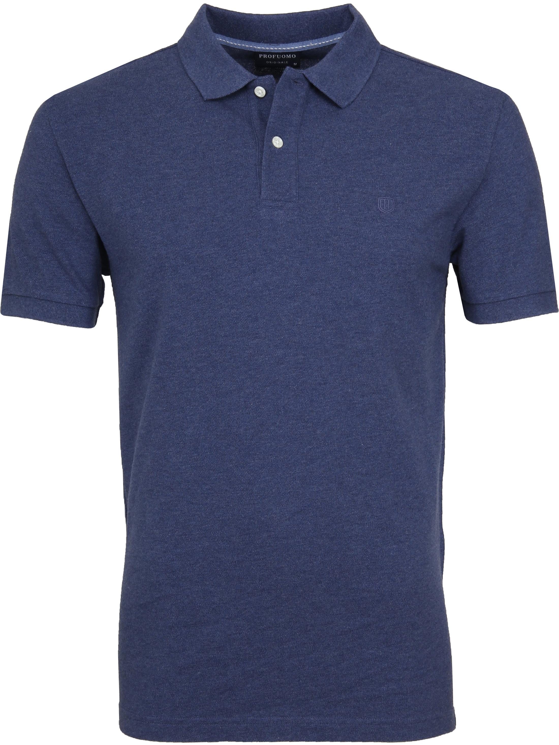Profuomo Short Sleeve Poloshirt Indigo foto 0