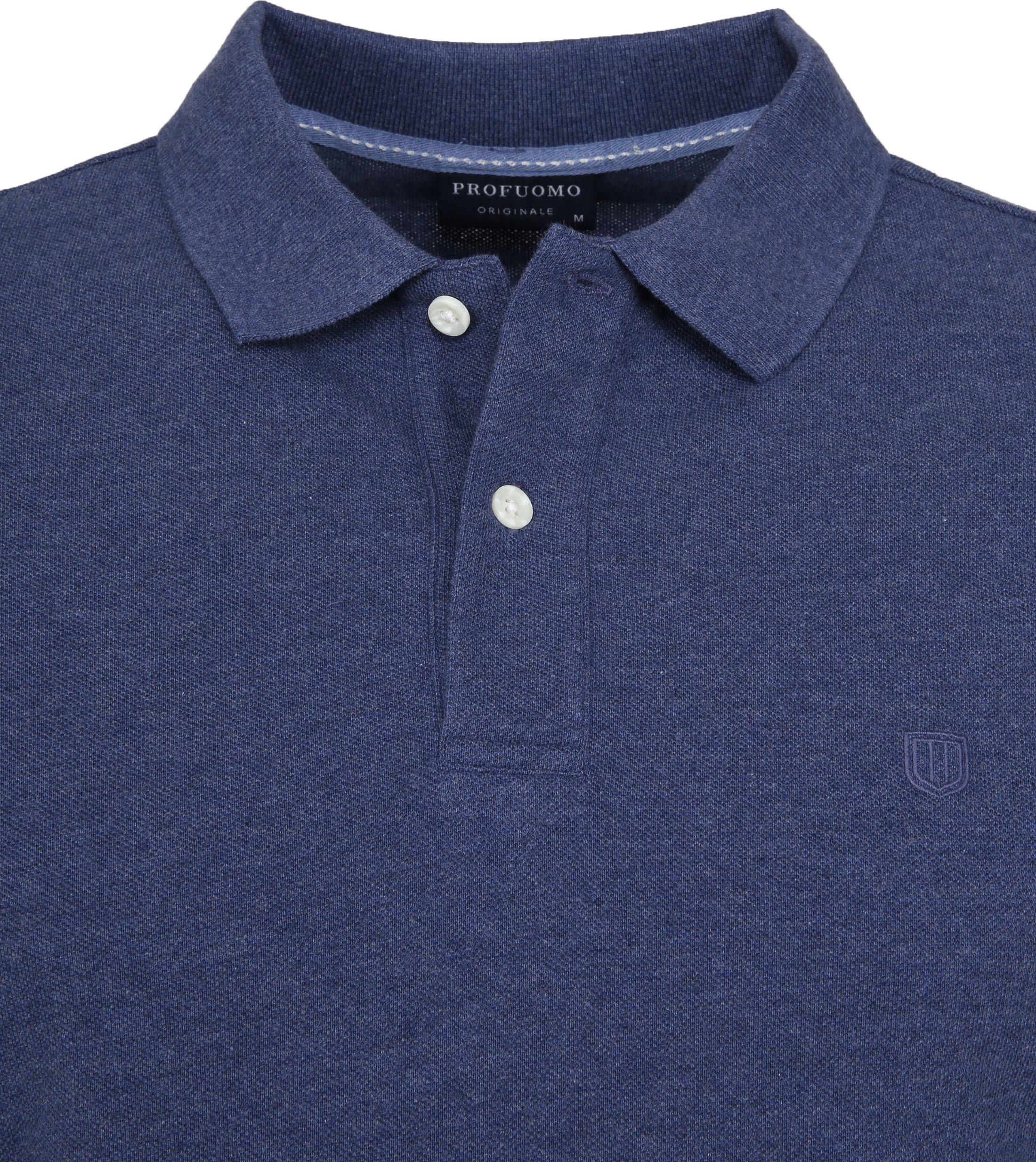Profuomo Short Sleeve Poloshirt Indigo foto 1