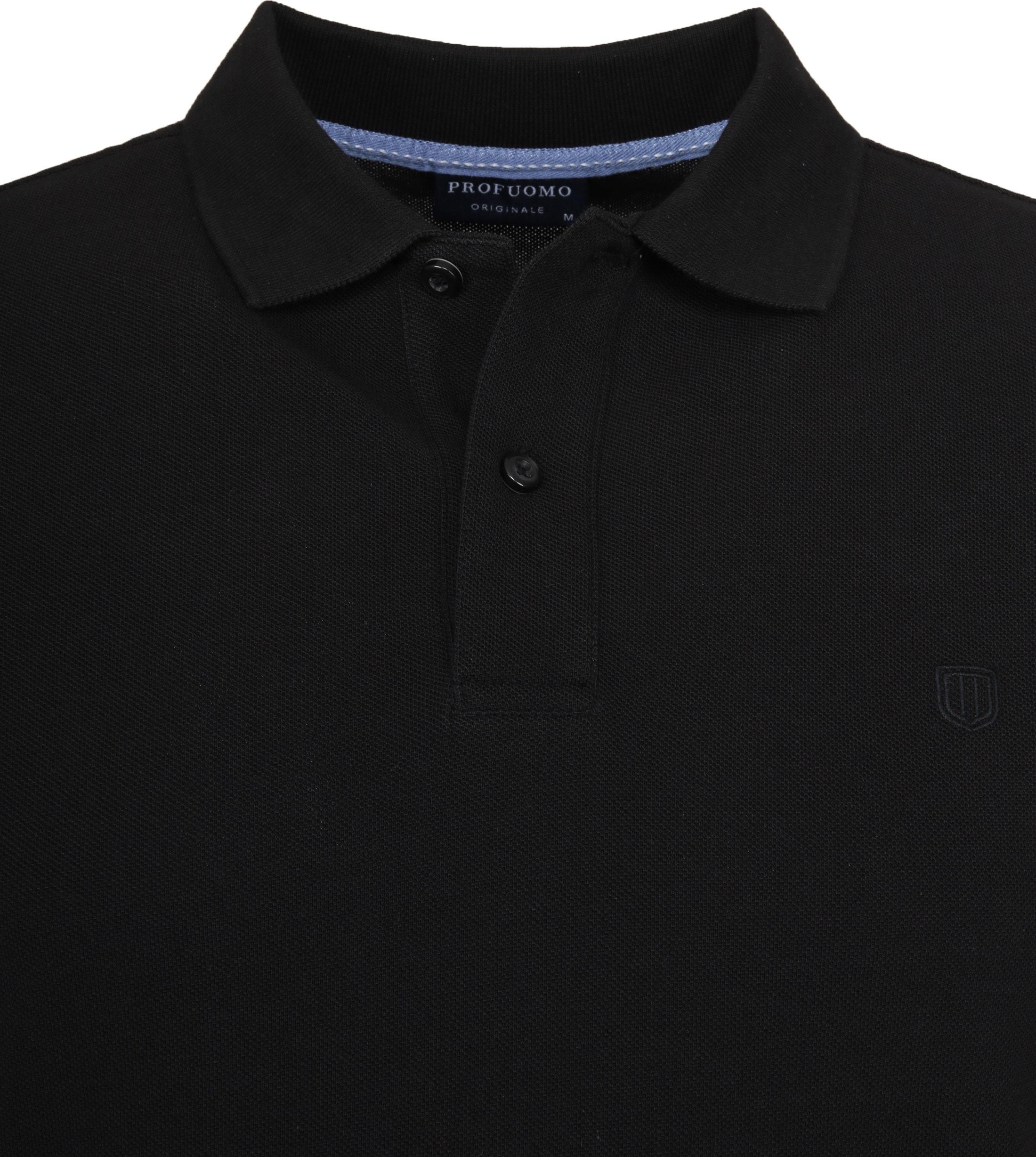 Profuomo Short Sleeve Poloshirt Schwarz foto 1