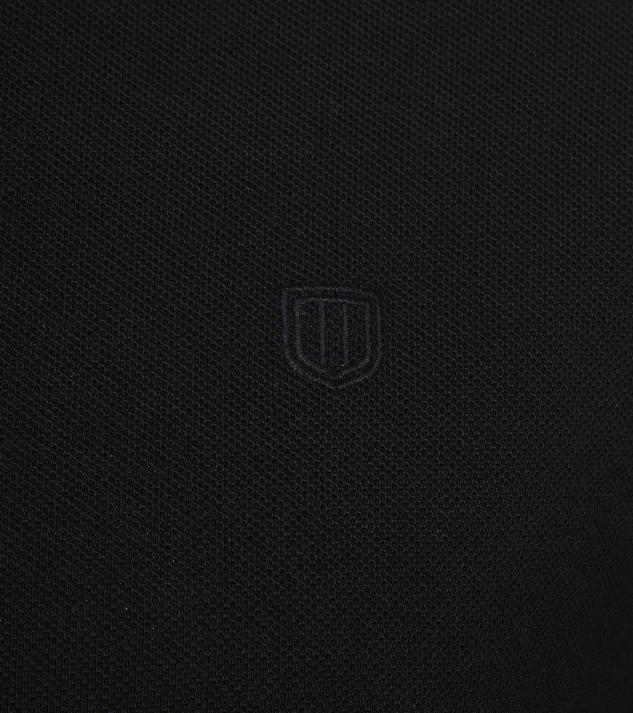 Profuomo Short Sleeve Poloshirt Schwarz foto 2
