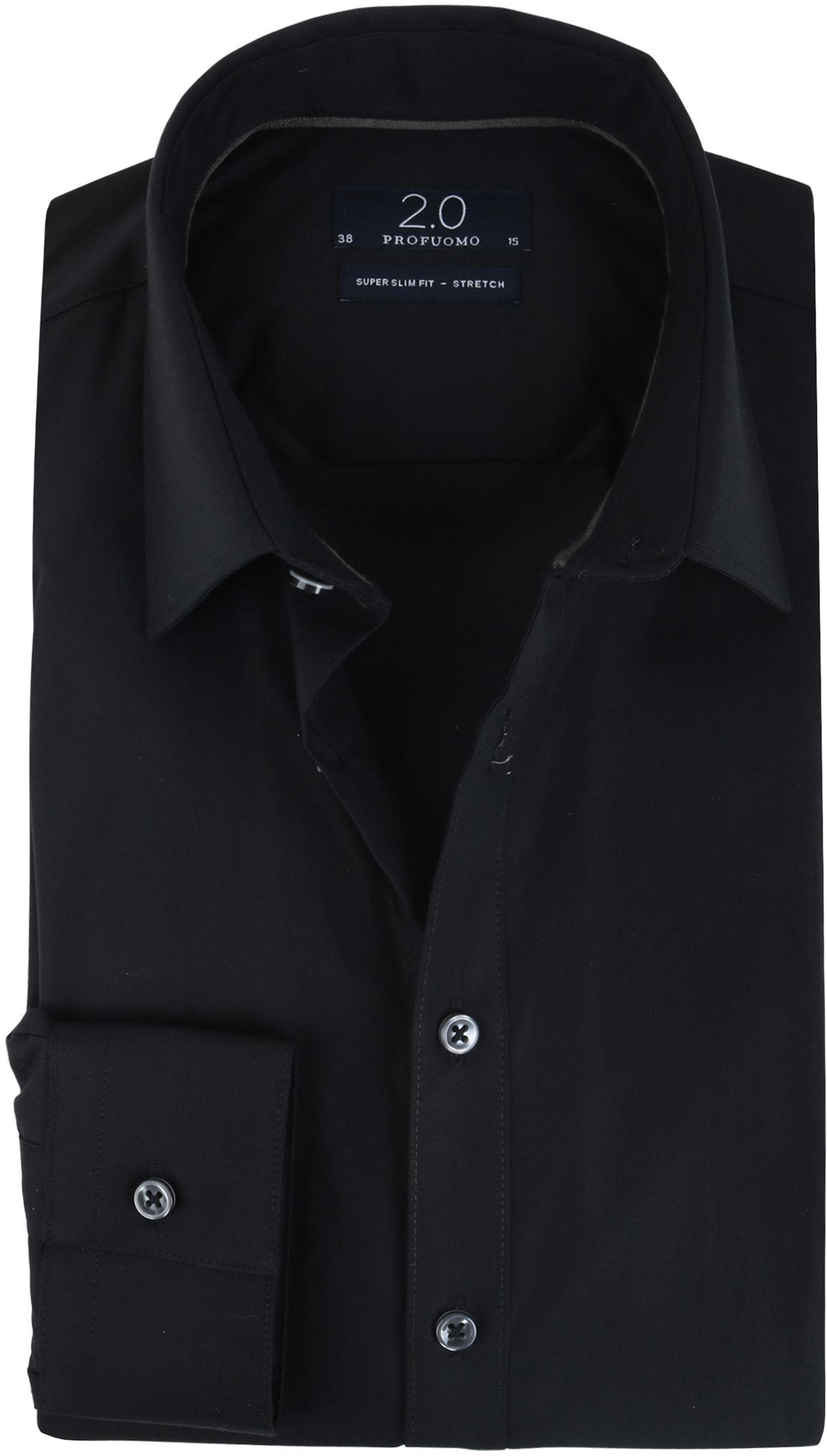 Overhemd Zwart Slim Fit.Profuomo Skinny Fit Overhemd Zwart Pp0h0d004