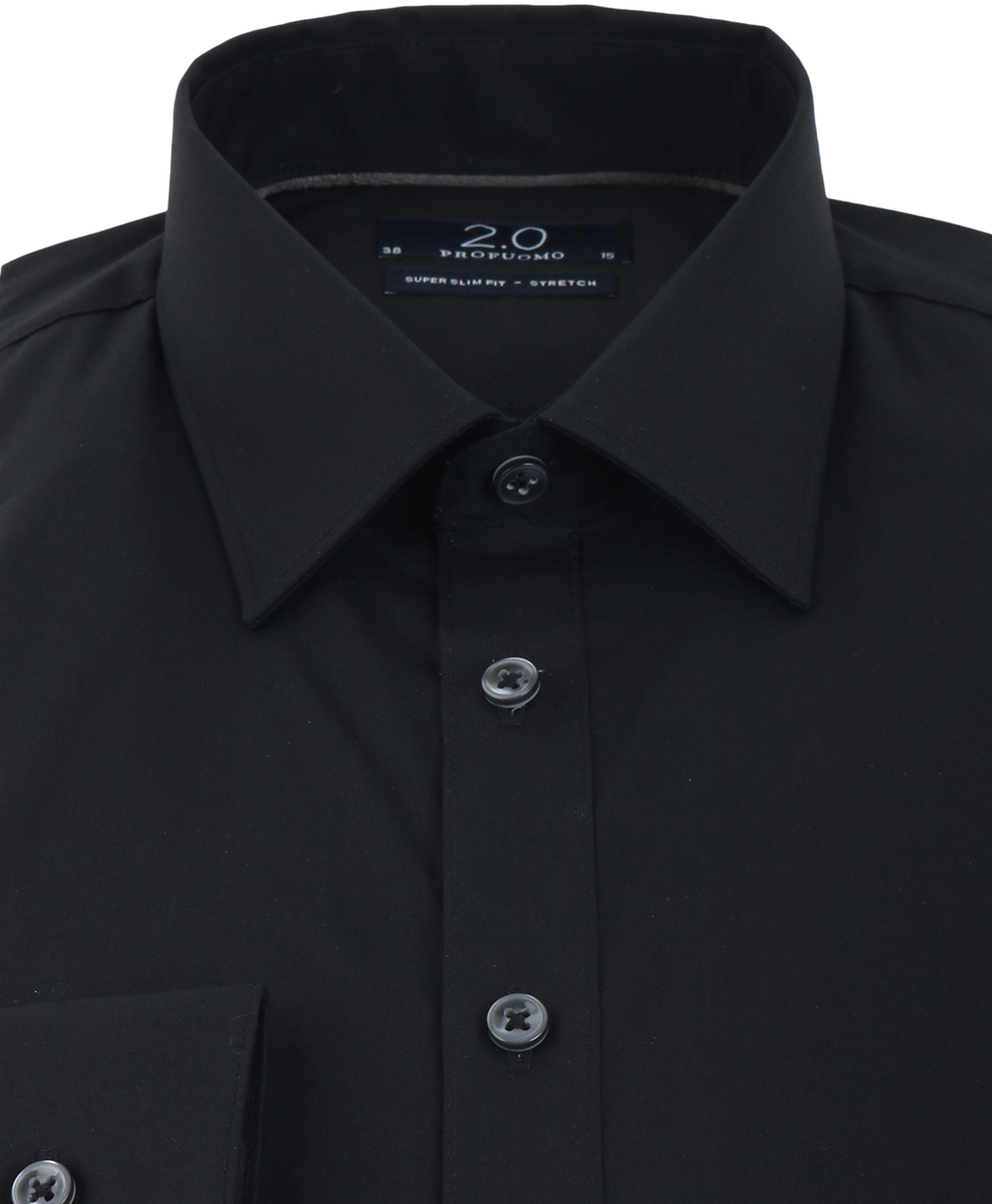 Profuomo Skinny Fit Shirt Black foto 2