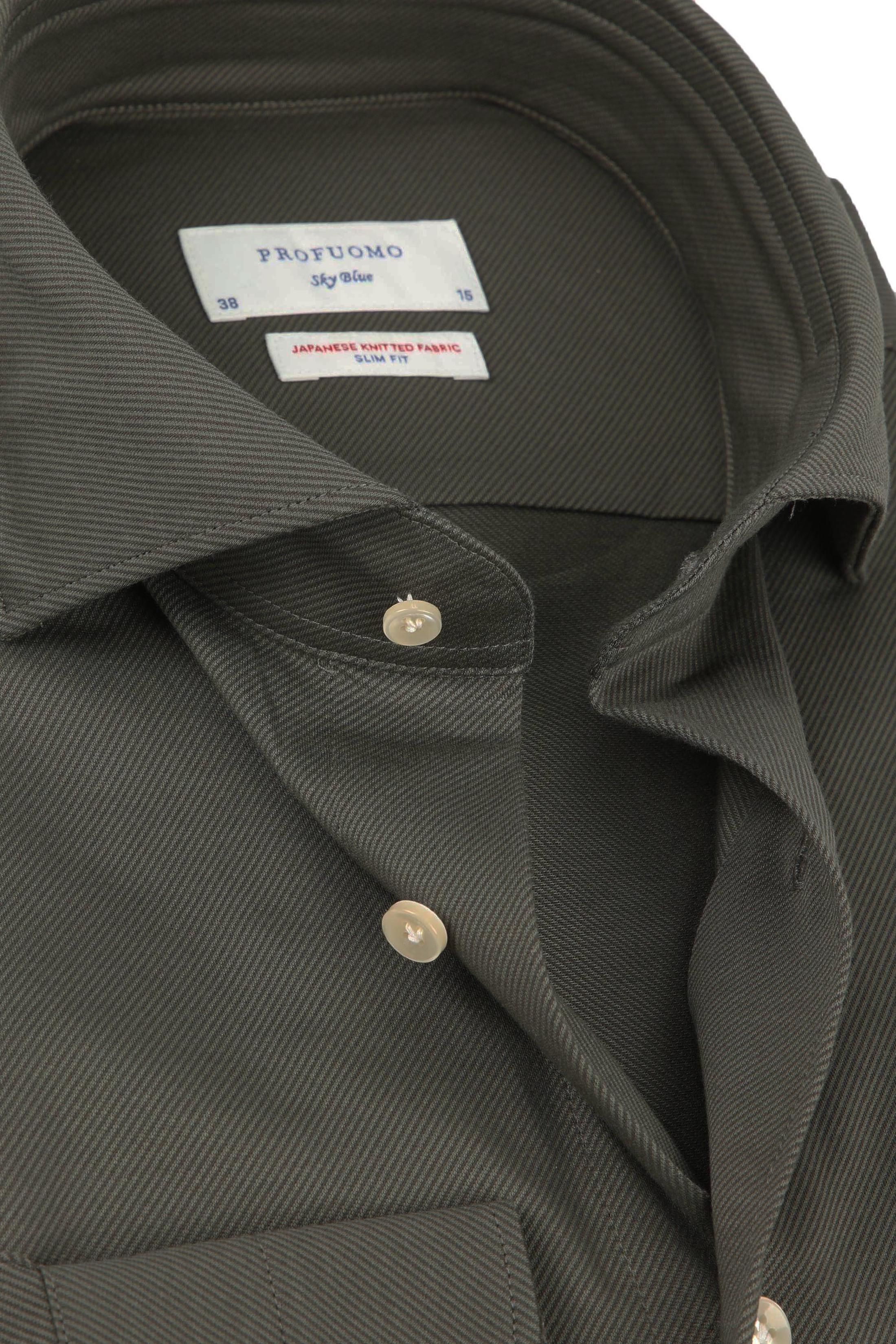Profuomo Sky Blue SF Overhemd Donkergroen
