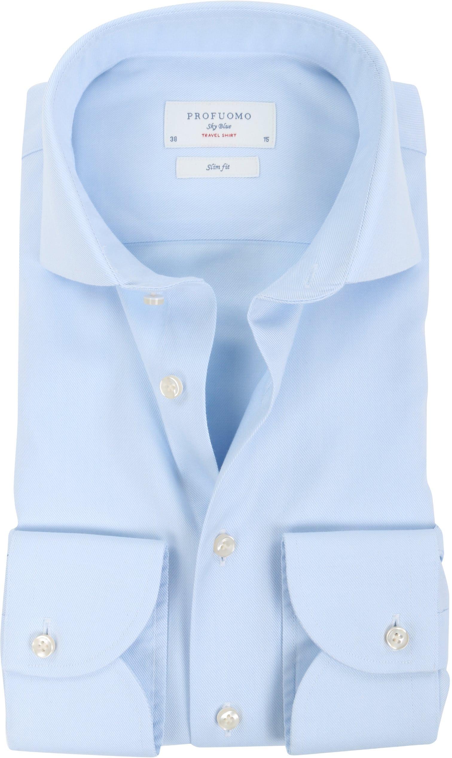 Profuomo Sky Blue Travel Shirt Blau foto 0