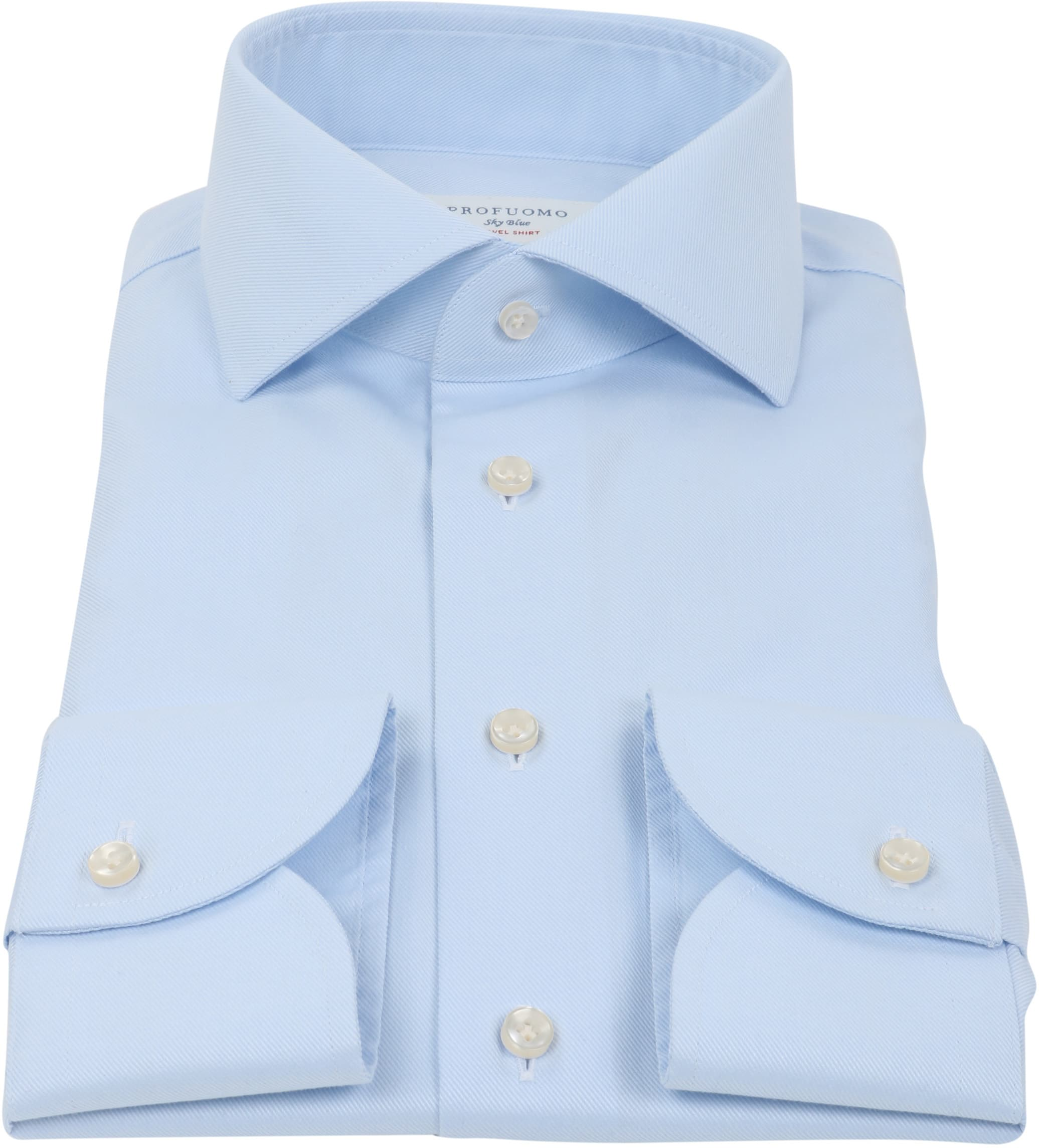 Profuomo Sky Blue Travel Shirt Blau foto 3