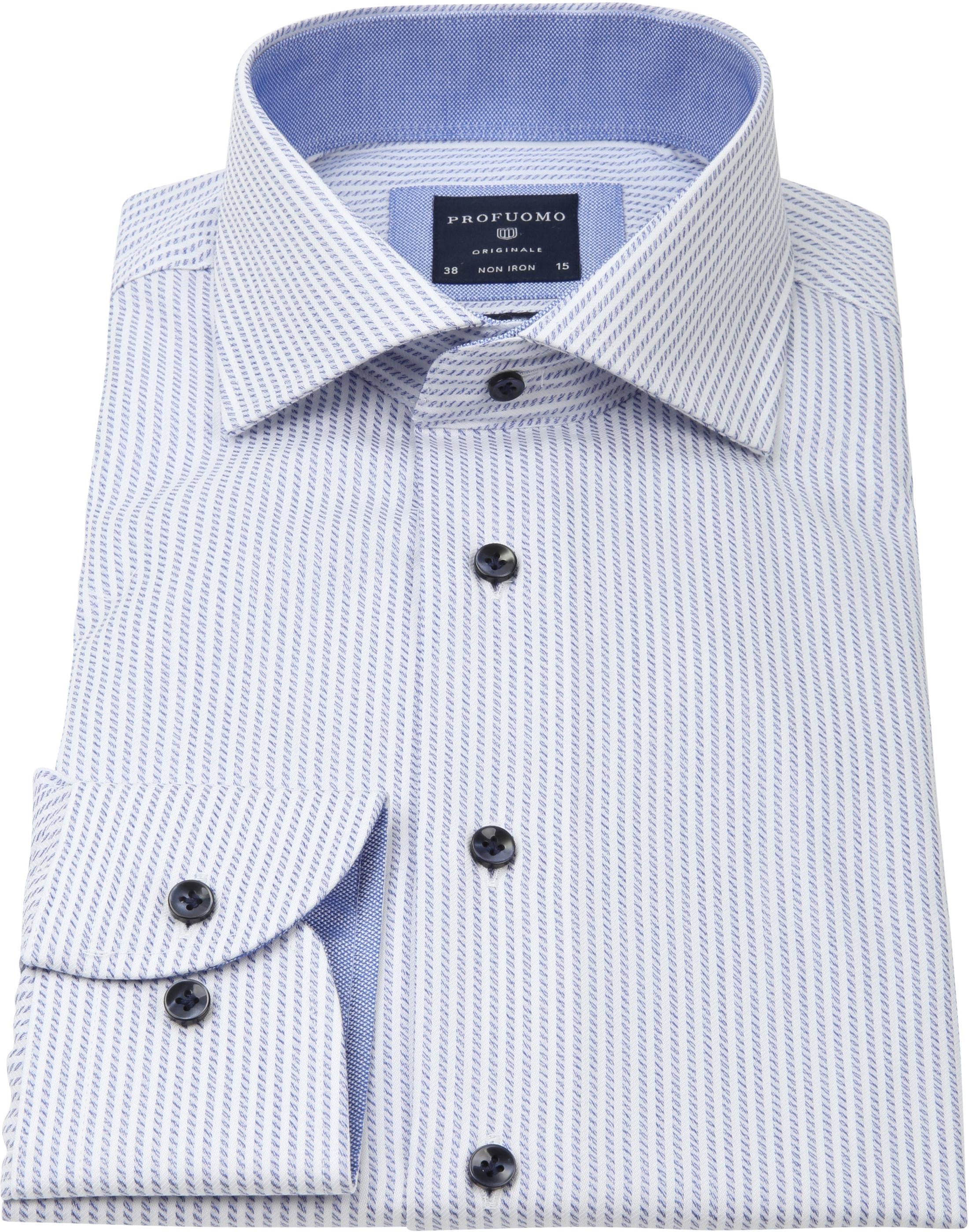 Profuomo Slim-Fit Overhemd Blauw foto 2