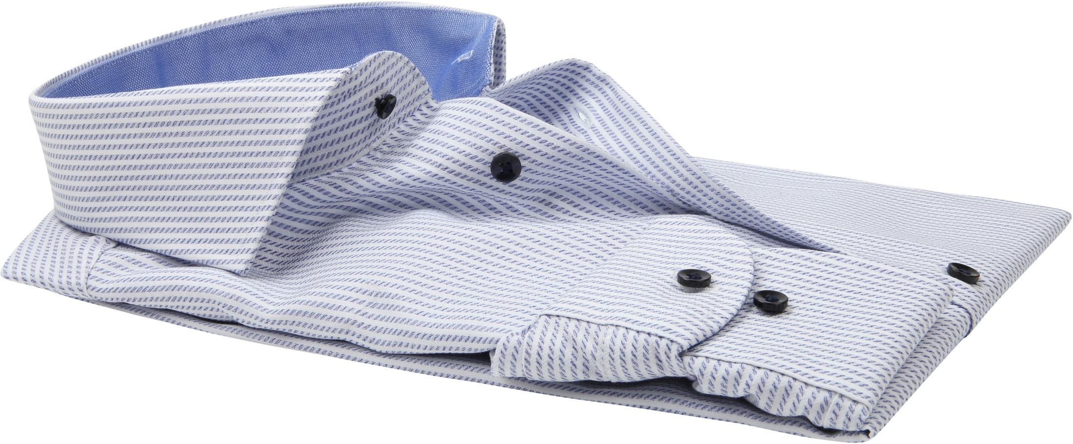 Profuomo Slim-Fit Overhemd Blauw foto 3