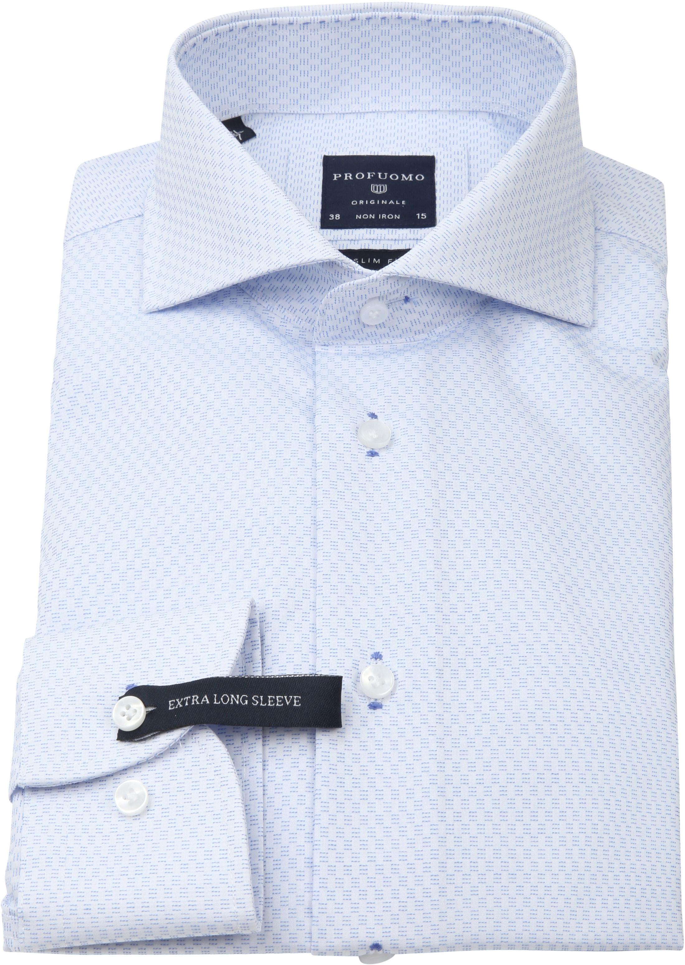 Profuomo Slim-Fit Overhemd Blauw SL7 foto 2