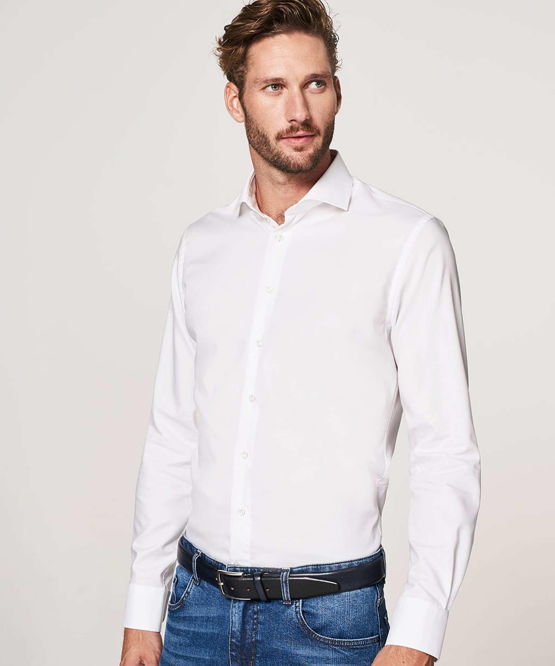 Profuomo Slim Fit Overhemd Cutaway foto 4