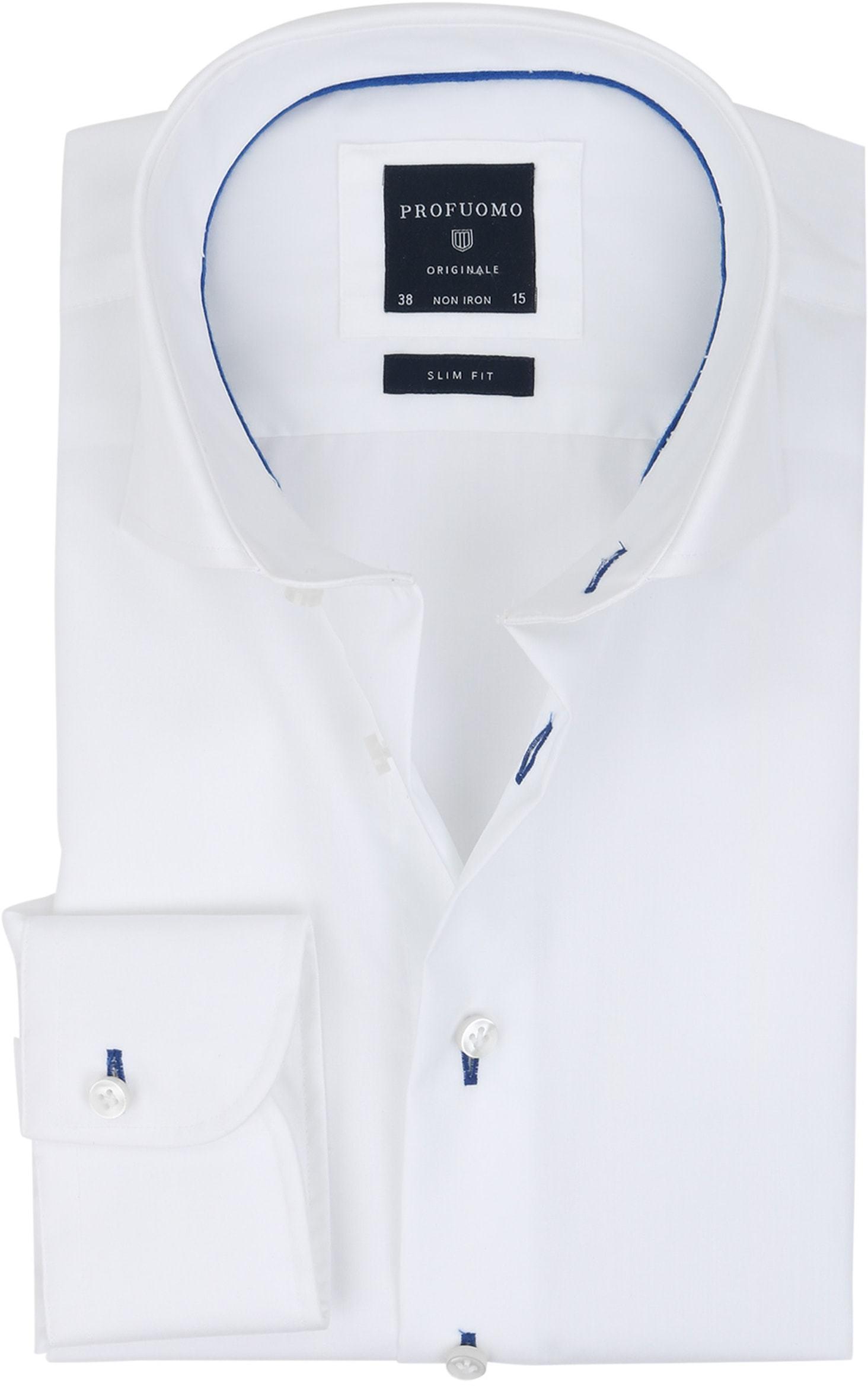 Profuomo Slim Fit Overhemd Wit Non Iron foto 0