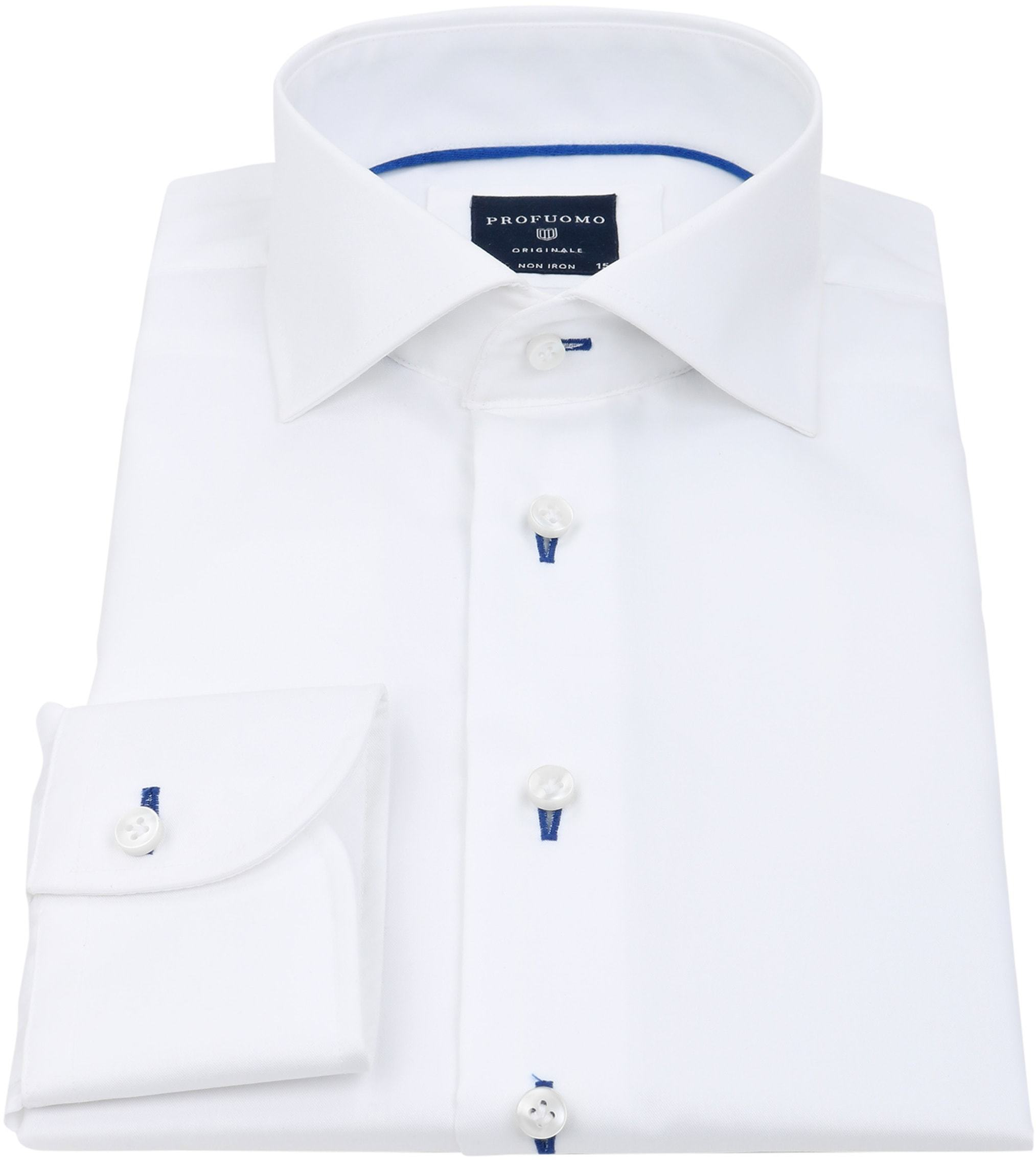 Profuomo Slim Fit Overhemd Wit Non Iron foto 1
