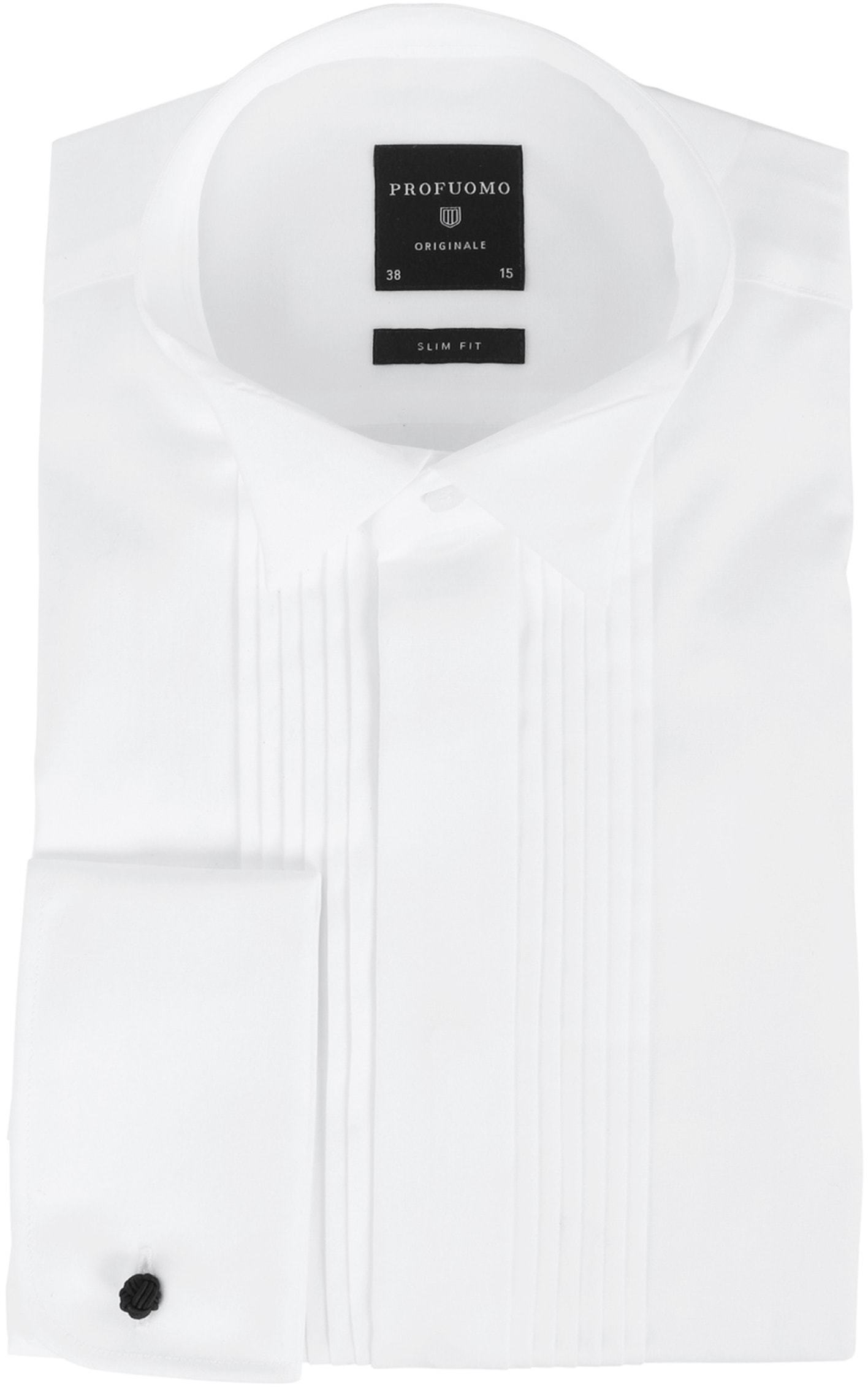 Profuomo Smoking Hemd Plissiert Slim Fit Weiß foto 0