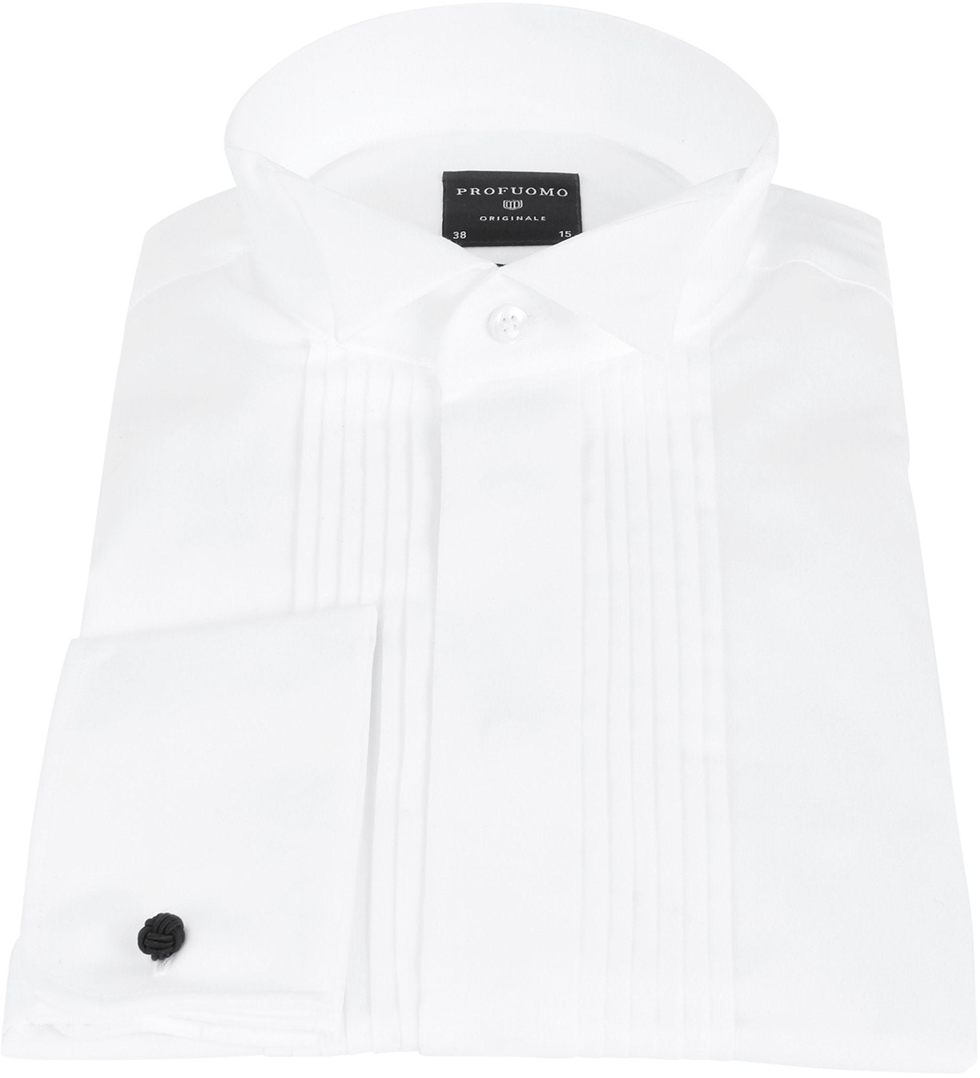 Profuomo Smoking Hemd Plissiert Slim Fit Weiß foto 2