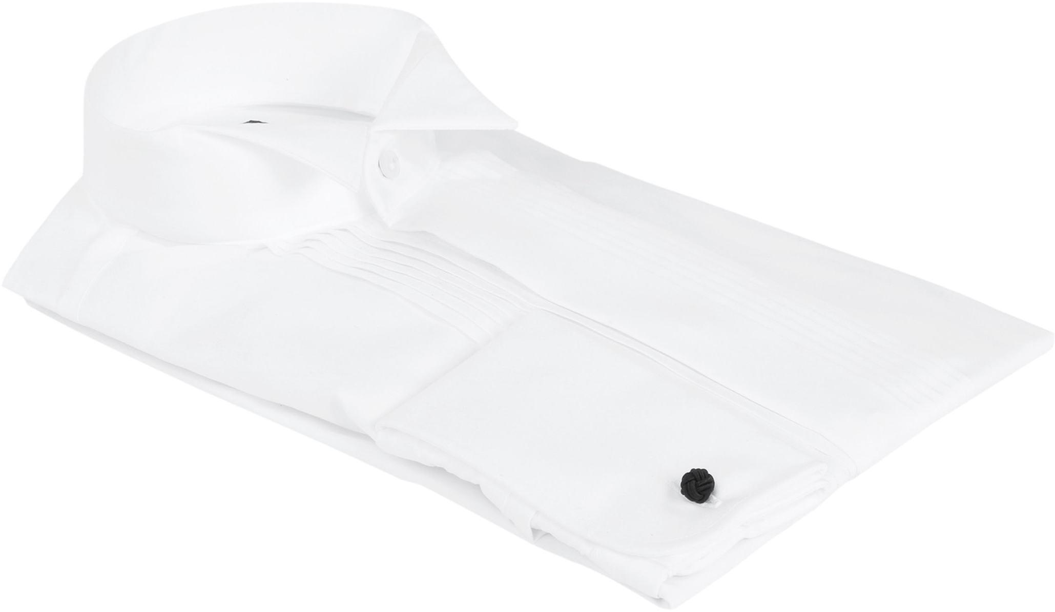 Profuomo Smoking Hemd Plissiert Slim Fit Weiß foto 3